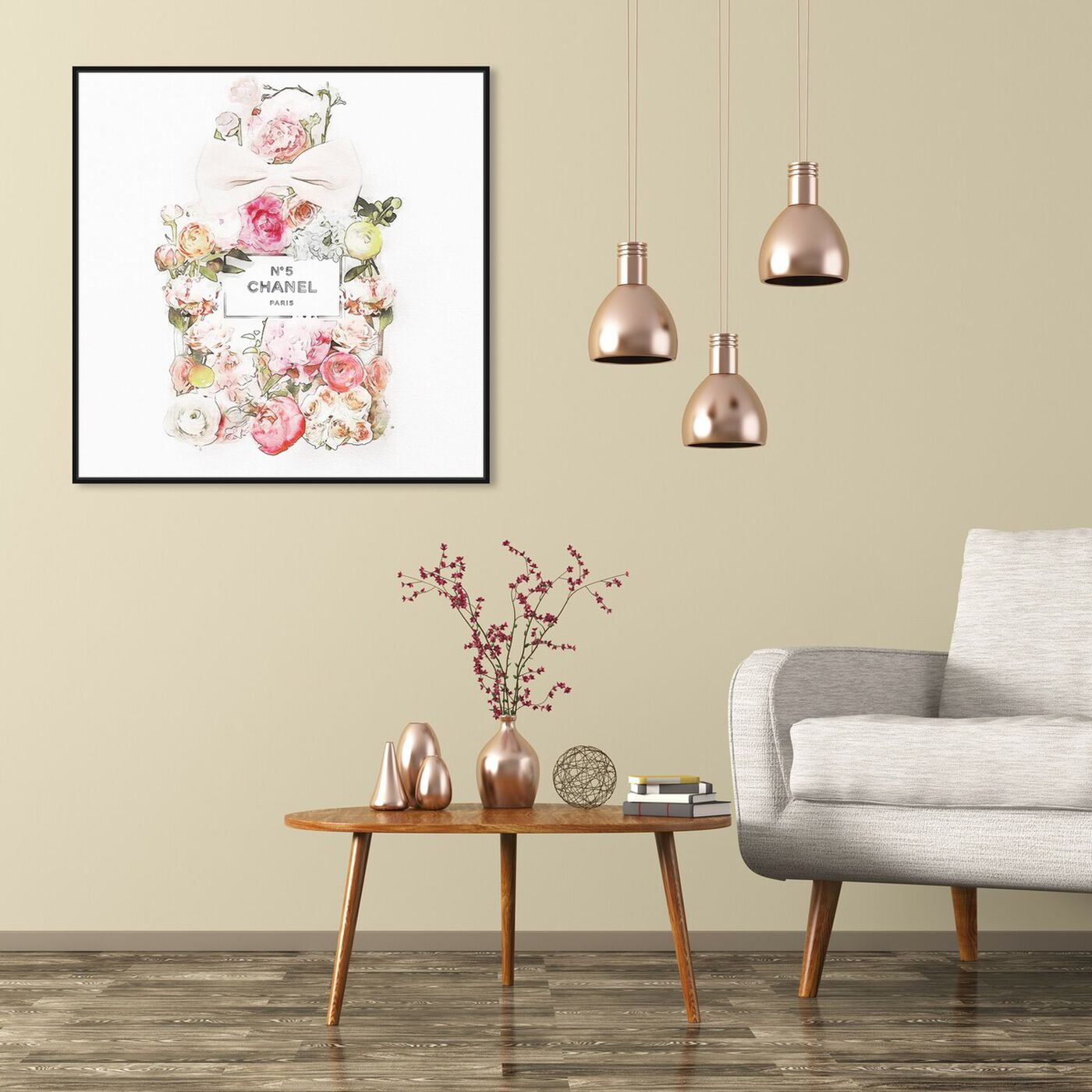Hanging view of Blooming Bouquet featuring fashion and glam and perfumes art.