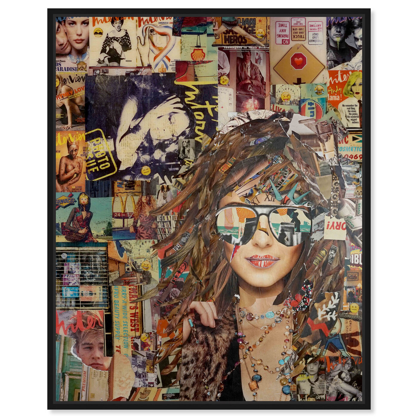 Front view of Katy Hirschfeld - Girl and Sunglasses featuring fashion and glam and portraits art.