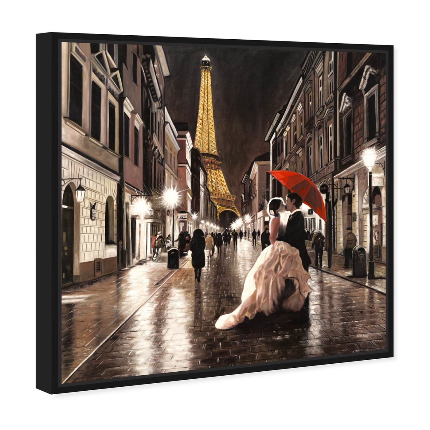 Angled view of Sai - Passion Rue 1BN2574 featuring cities and skylines and european cities art.