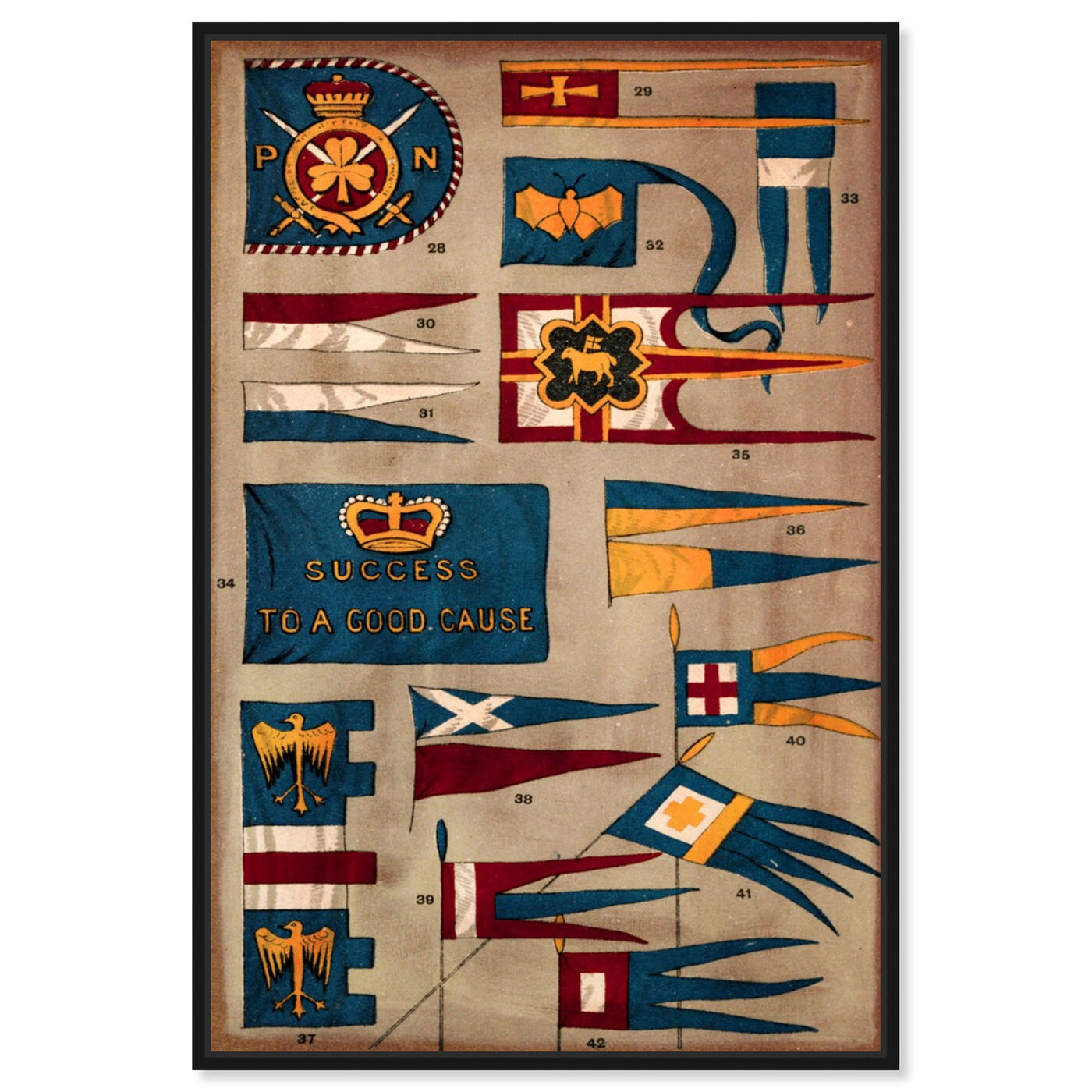 Front view of Kingdom Flags featuring maps and flags and flags art.