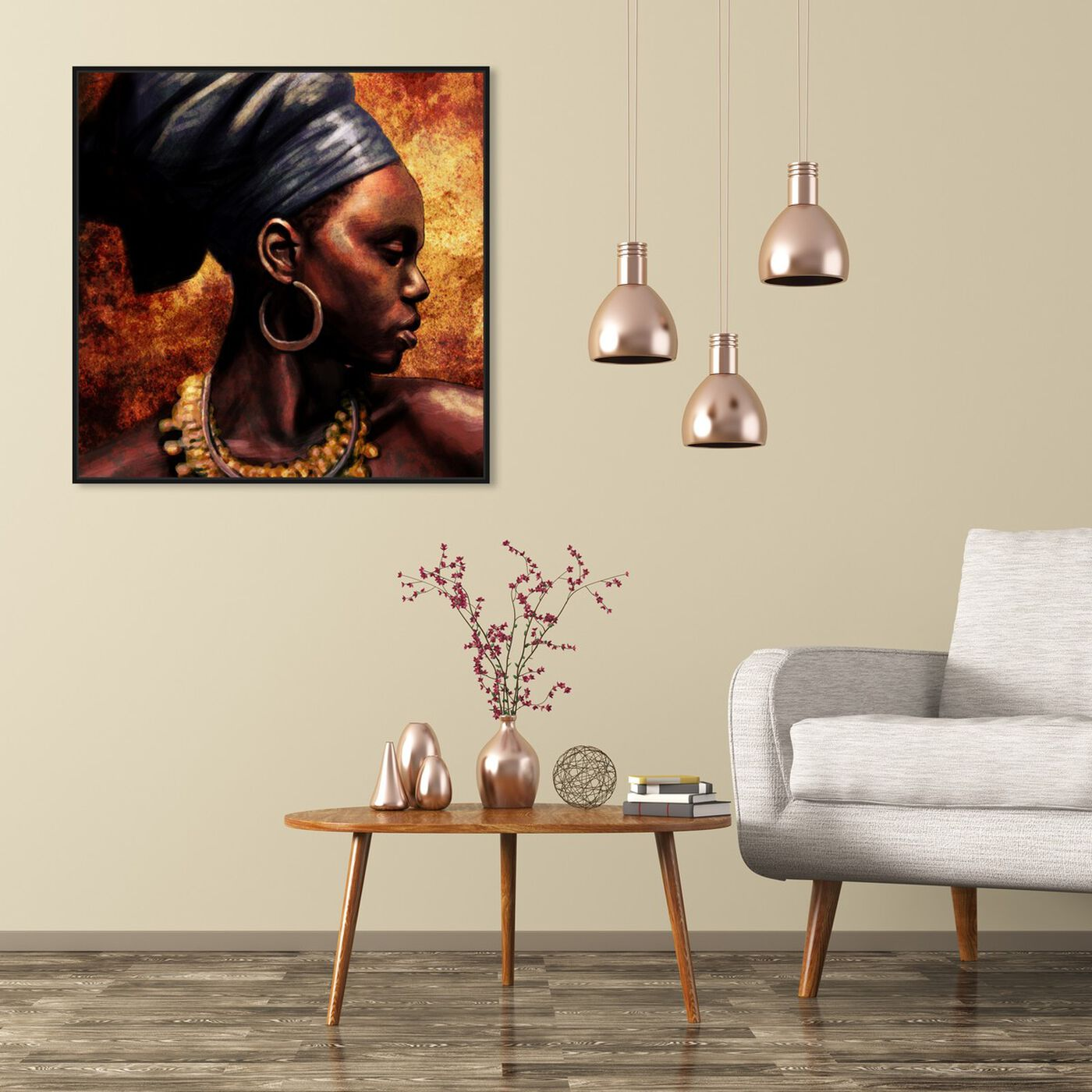 Hanging view of Ashanti featuring people and portraits and portraits art.