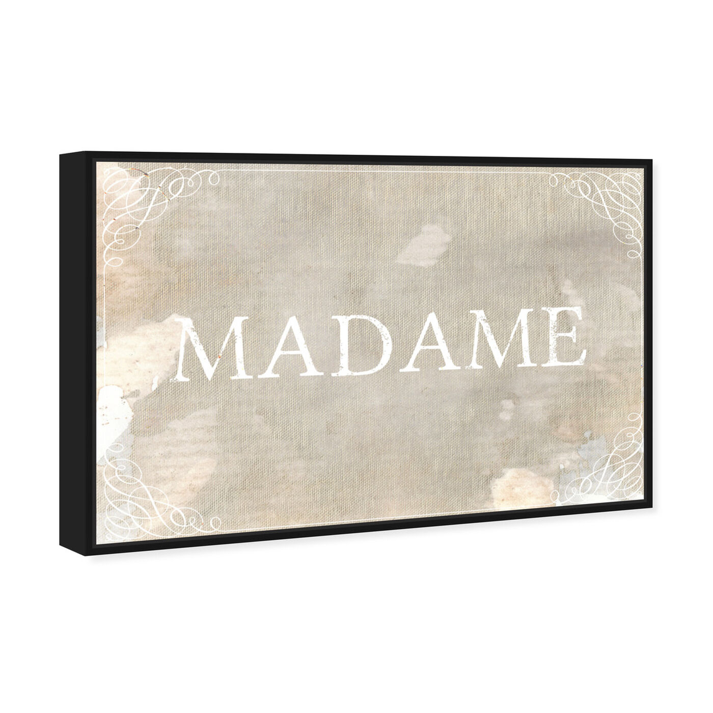 Angled view of Madame featuring typography and quotes and quotes and sayings art.