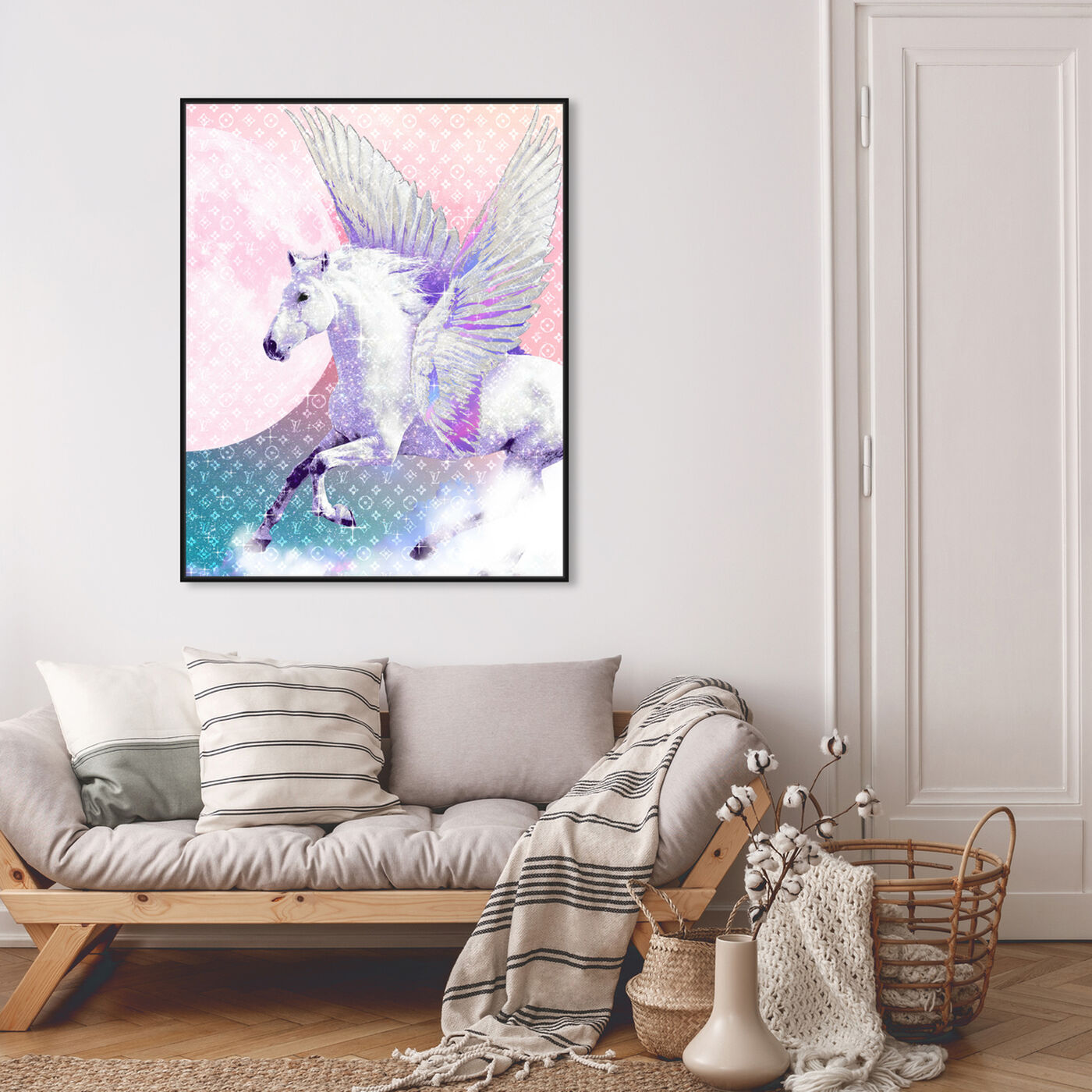 Hanging view of Right Vision featuring animals and fantasy creatures art.