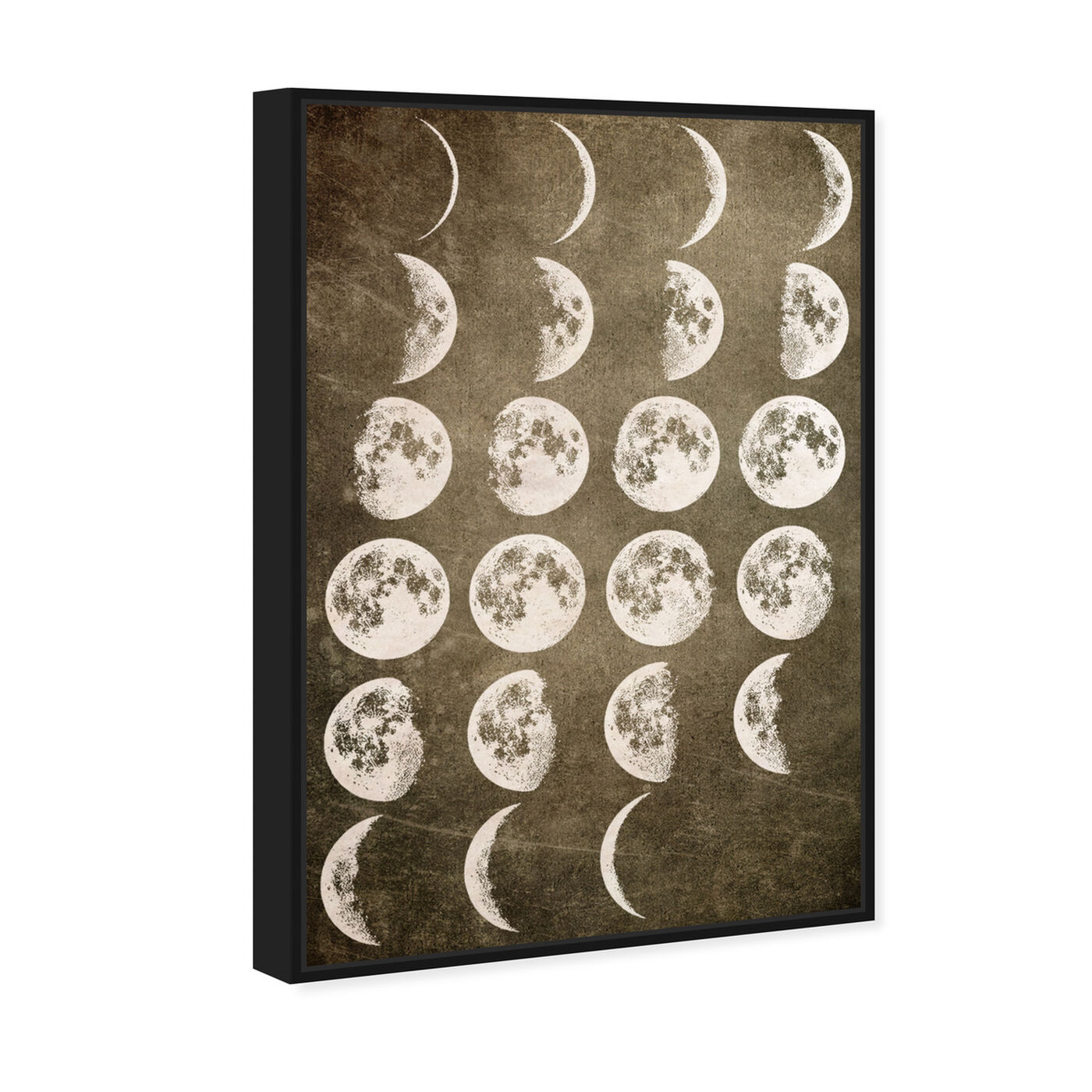 Angled view of Lunar Phases featuring astronomy and space and moons phases art.