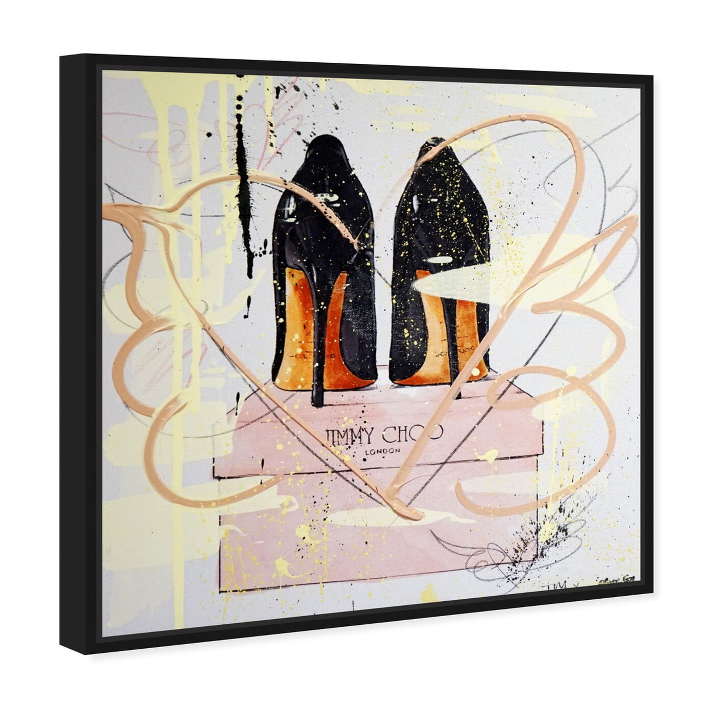 Angled view of Night Out Stilettos Remix featuring fashion and glam and shoes art.