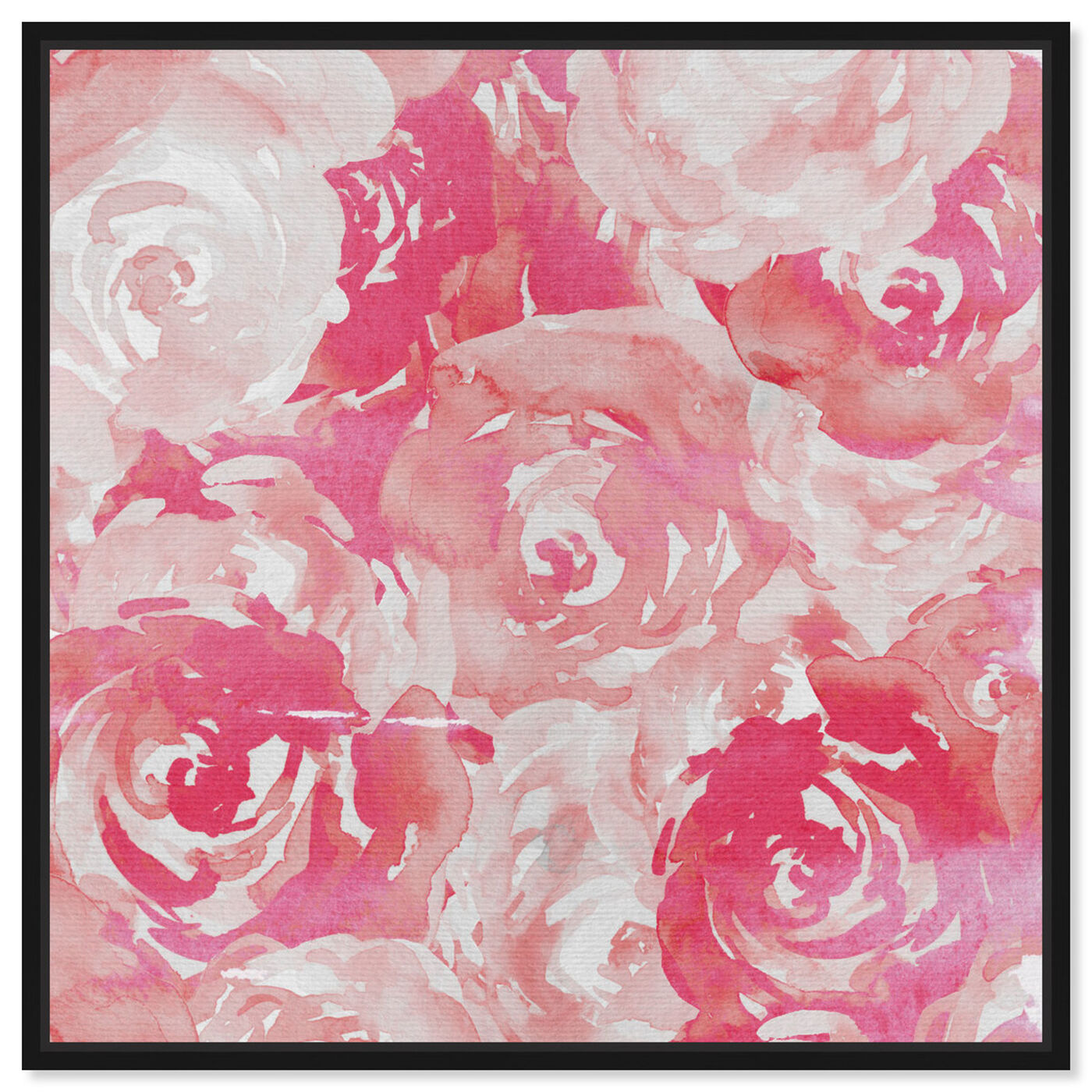 Front view of Pink Roses featuring floral and botanical and florals art.
