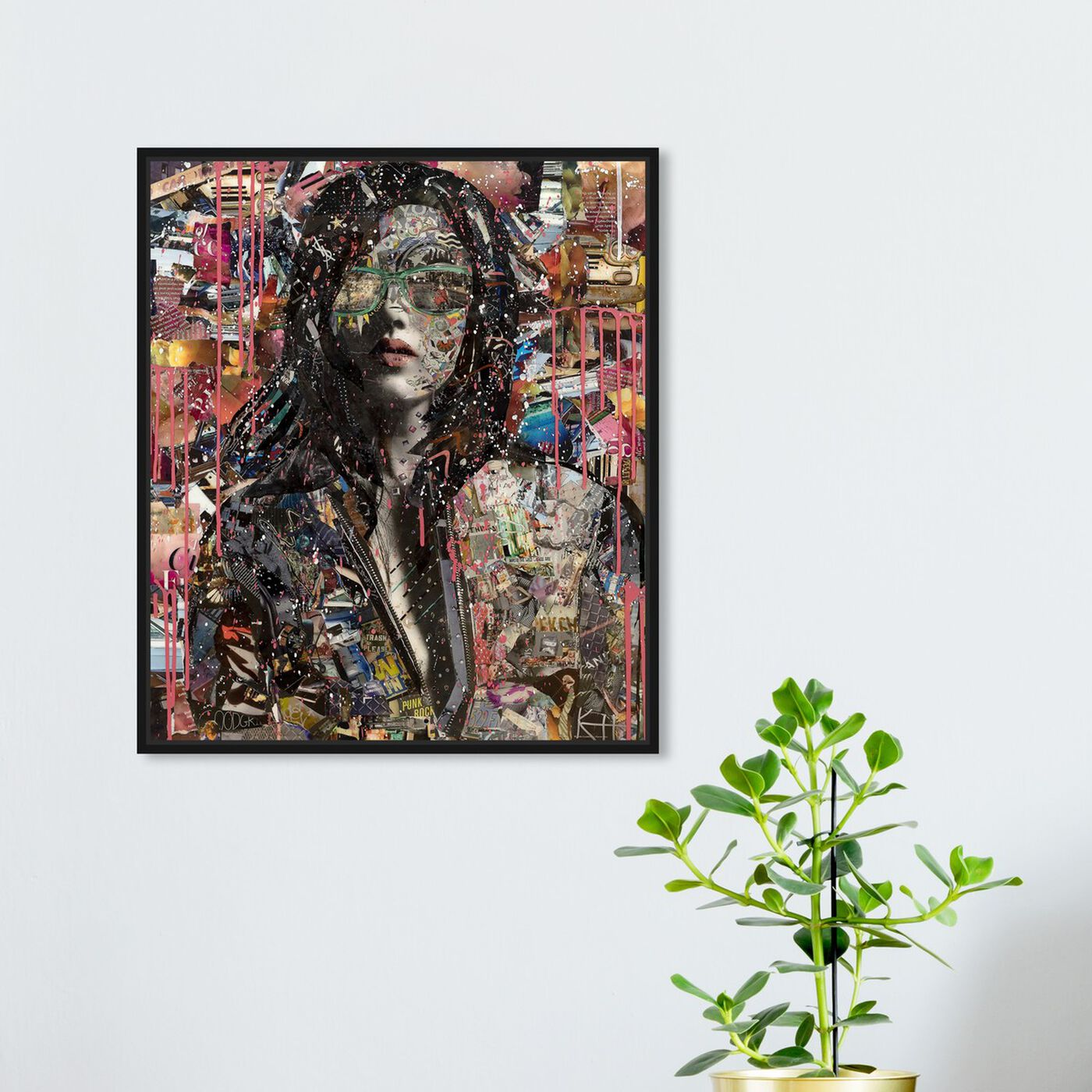 Hanging view of Katy Hirschfeld - Beauty in Pink featuring fashion and glam and portraits art.