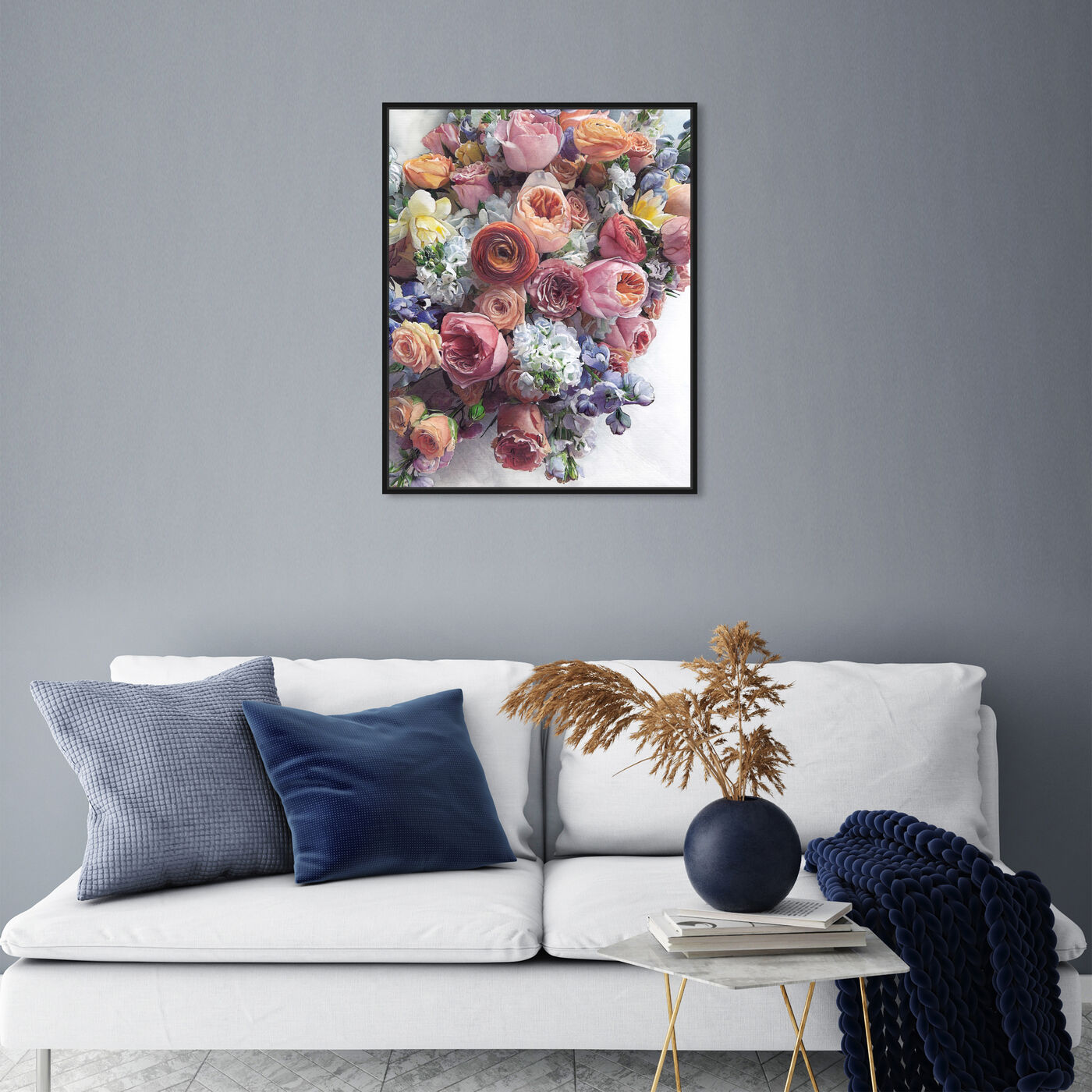 Hanging view of Summer Feelings featuring floral and botanical and florals art.