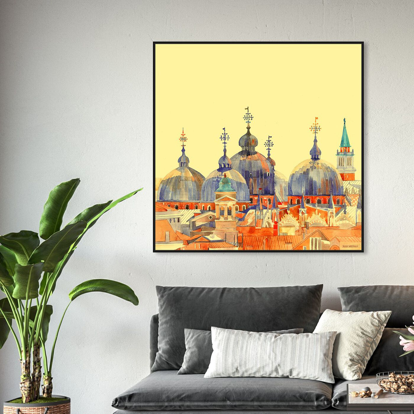Hanging view of Maja Wronska - Rooftop City Scape featuring cities and skylines and world cities art.