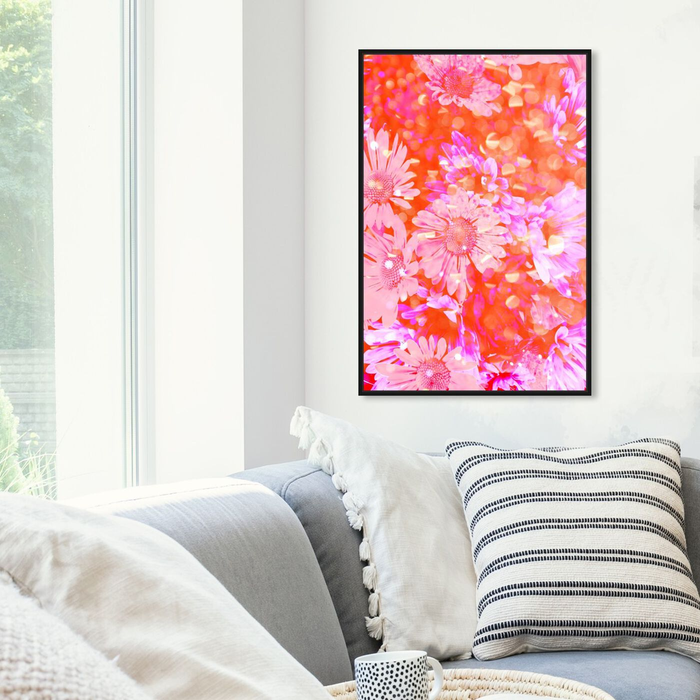 Hanging view of Flower Madness featuring floral and botanical and florals art.