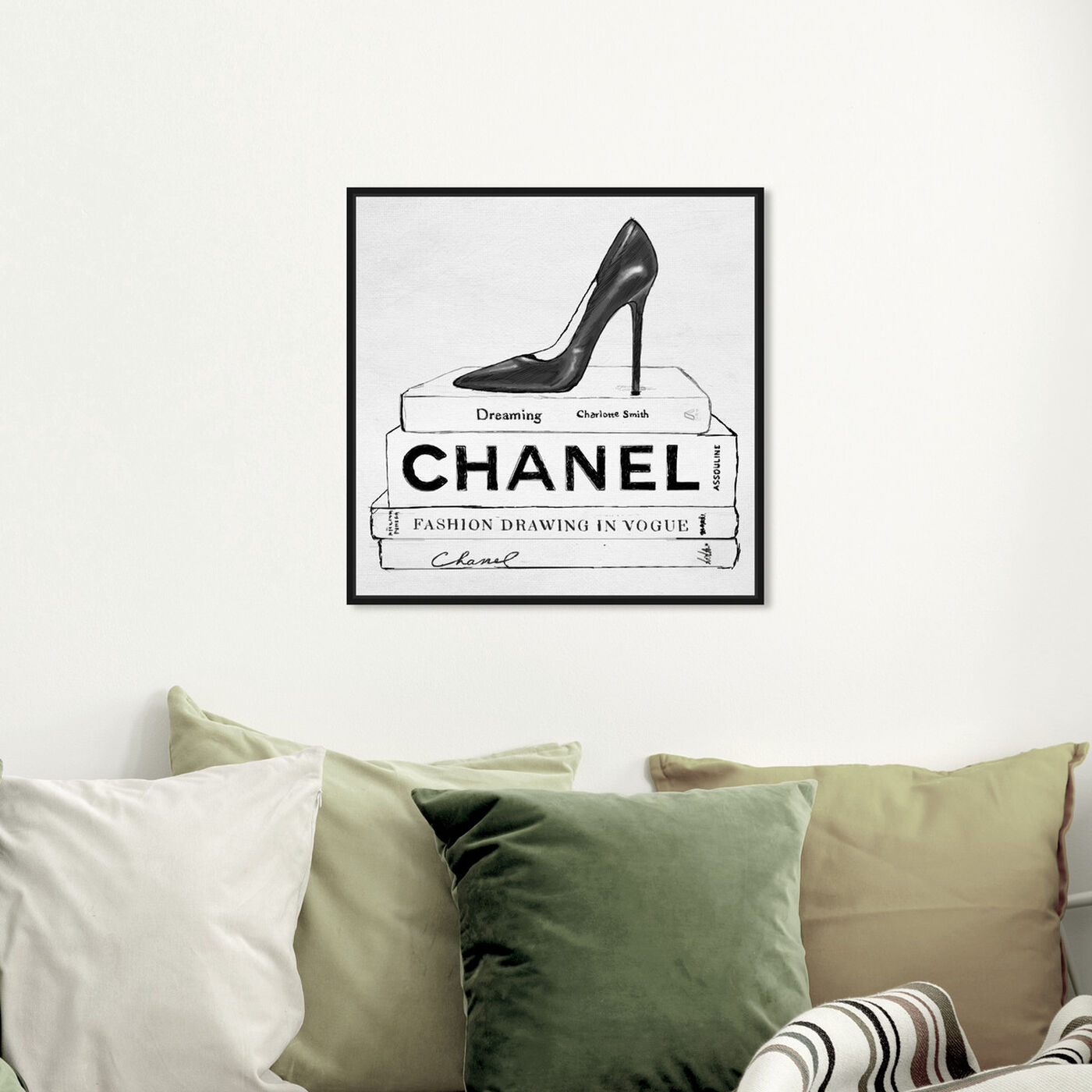 Hanging view of Simplicity in Fashion featuring fashion and glam and shoes art.