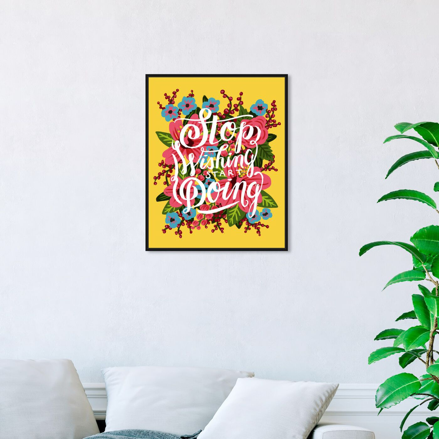 Hanging view of Start Doing featuring typography and quotes and motivational quotes and sayings art.