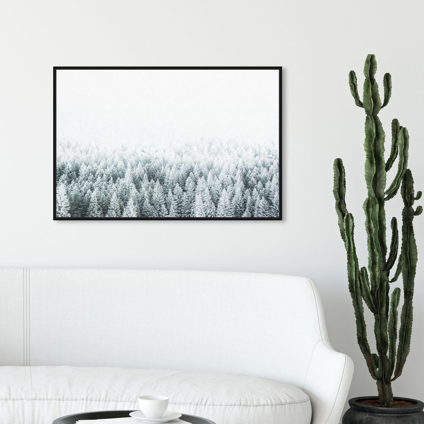 Hanging view of Pine Forest featuring nature and landscape and forest landscapes art.