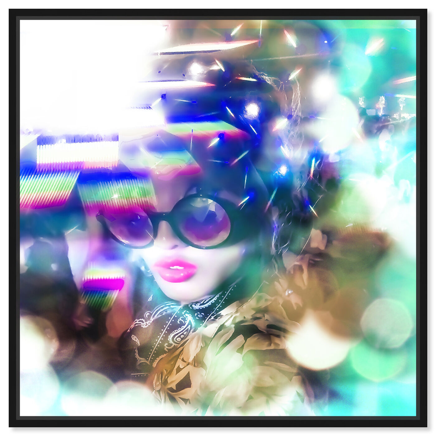 Front view of Curro Cardenal - Neon Rave featuring fashion and glam and portraits art.
