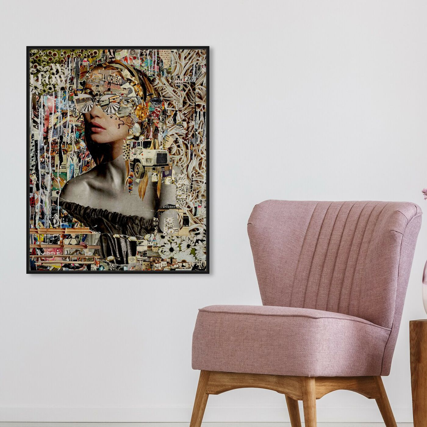 Hanging view of Katy Hirschfeld - Flower Modern featuring fashion and glam and portraits art.