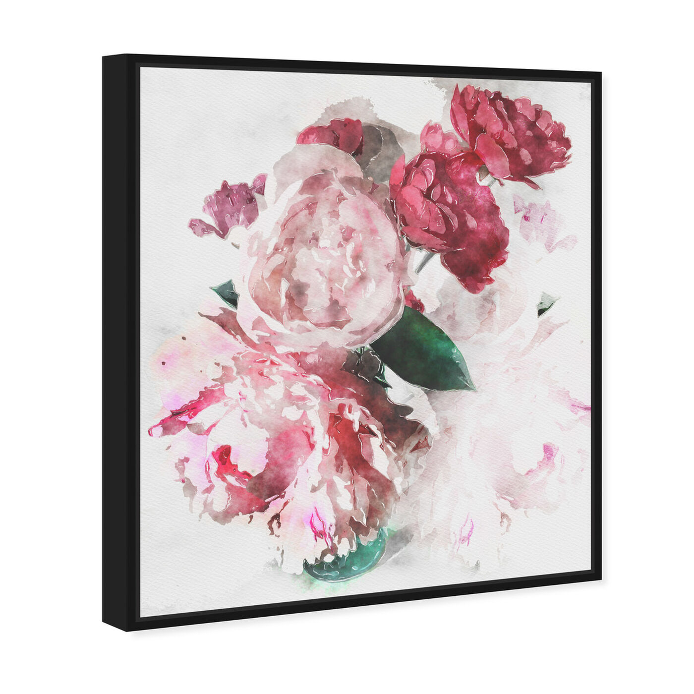 Angled view of Peony Vase featuring floral and botanical and florals art.