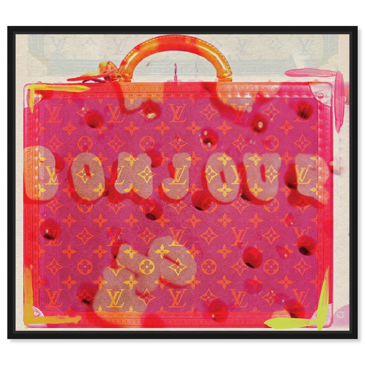 Front view of Bonjour featuring fashion and glam and handbags art.