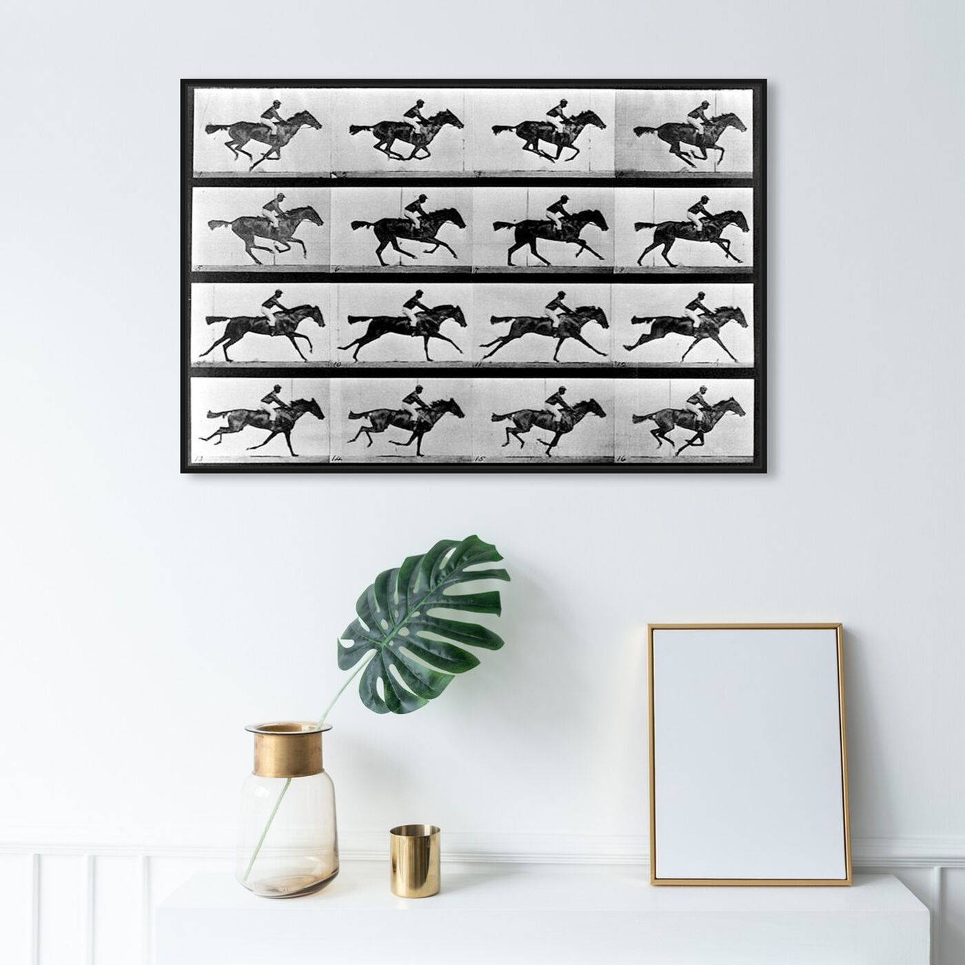 Hanging view of Horse In Motion II featuring animals and farm animals art.