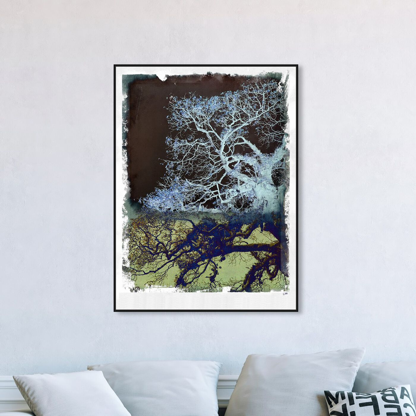 Hanging view of Wanderer featuring floral and botanical and trees art.