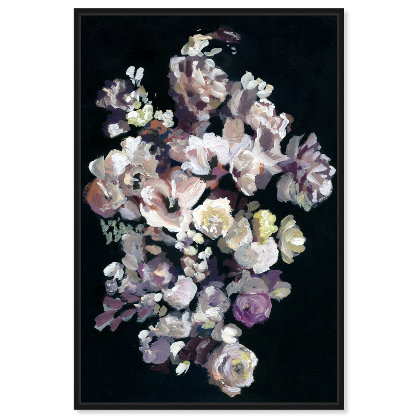 Front view of Beauty in Darkness featuring floral and botanical and florals art.