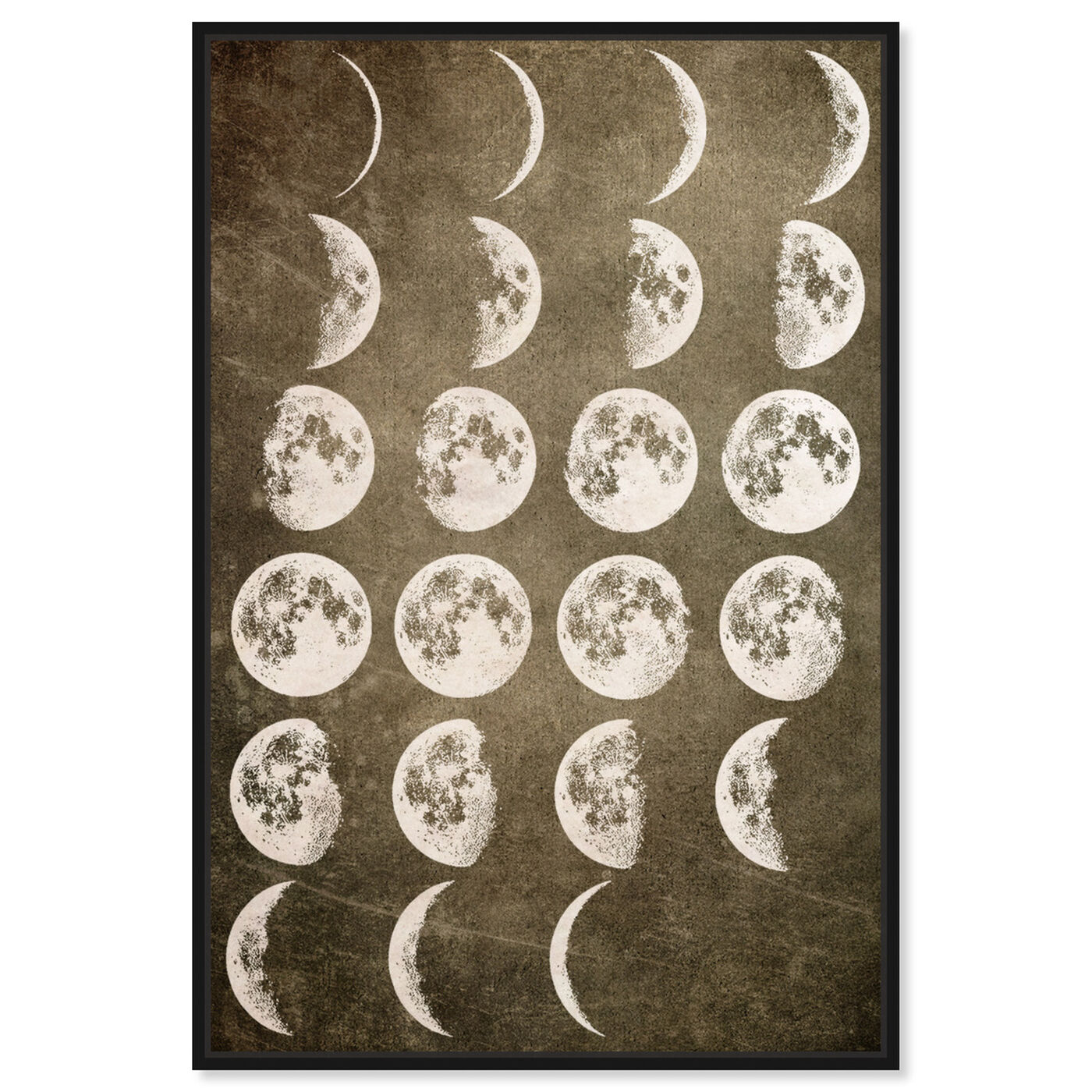 Front view of Lunar Phases featuring astronomy and space and moons phases art.