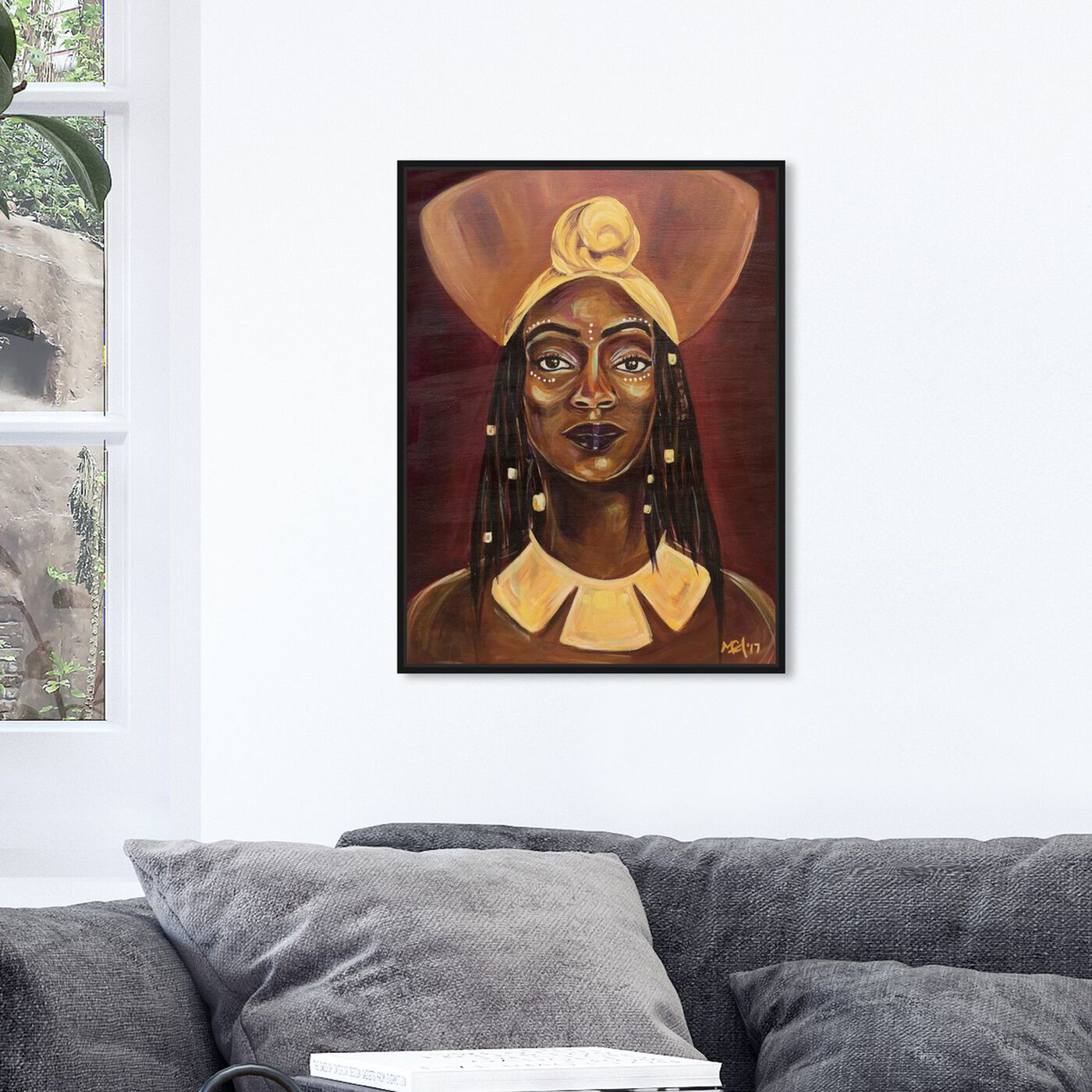 Hanging view of Marissa Anderson - Queen featuring people and portraits and portraits art.