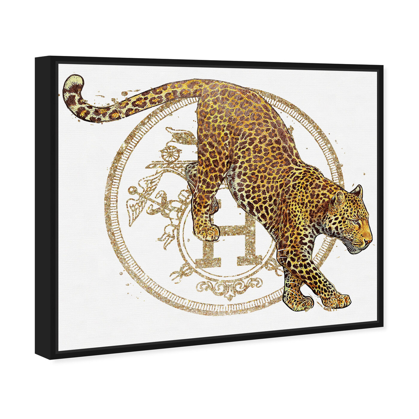 Angled view of French Jaguar Pounce featuring fashion and glam and fashion lifestyle art.
