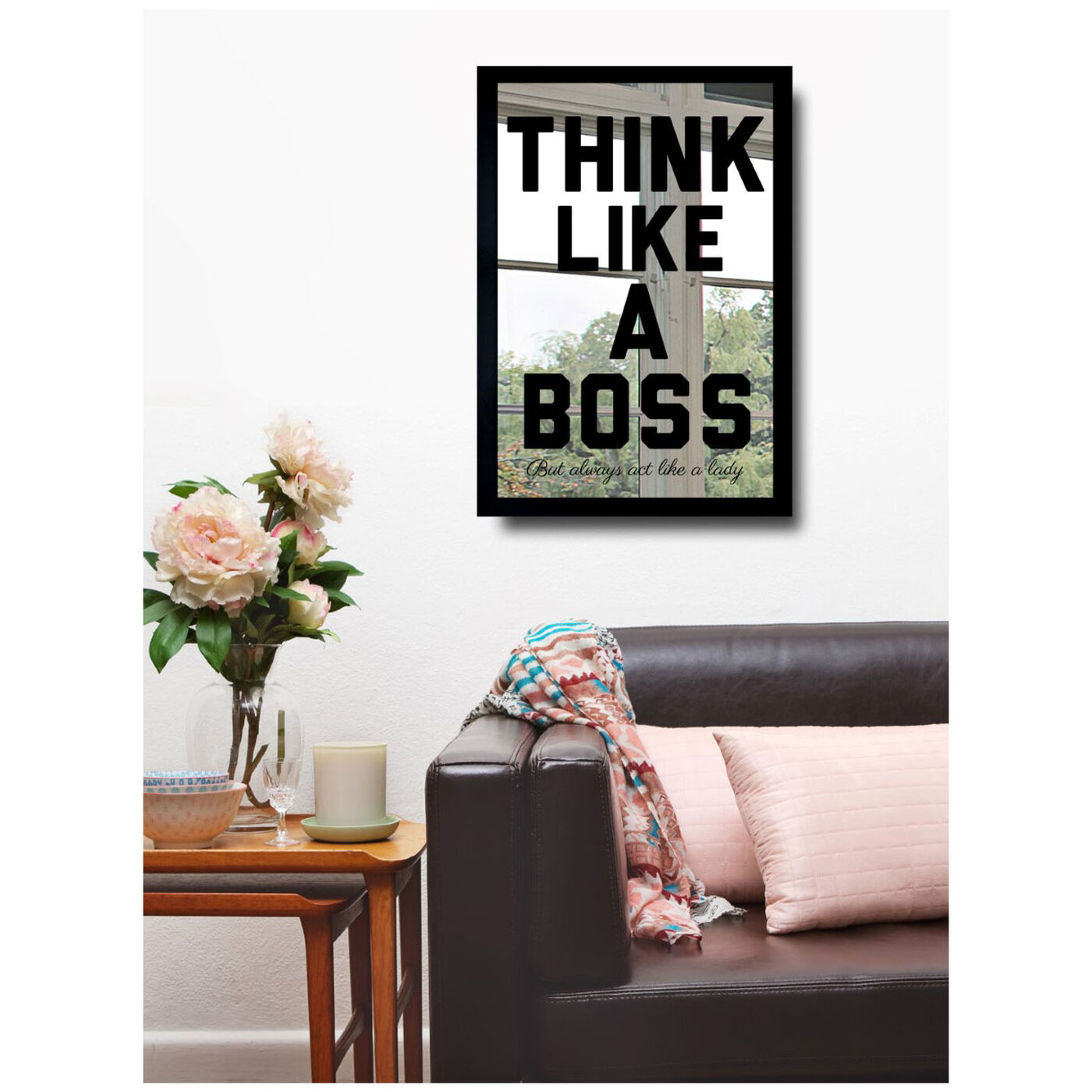 Hanging view of Like A Boss featuring typography and quotes and motivational quotes and sayings art.