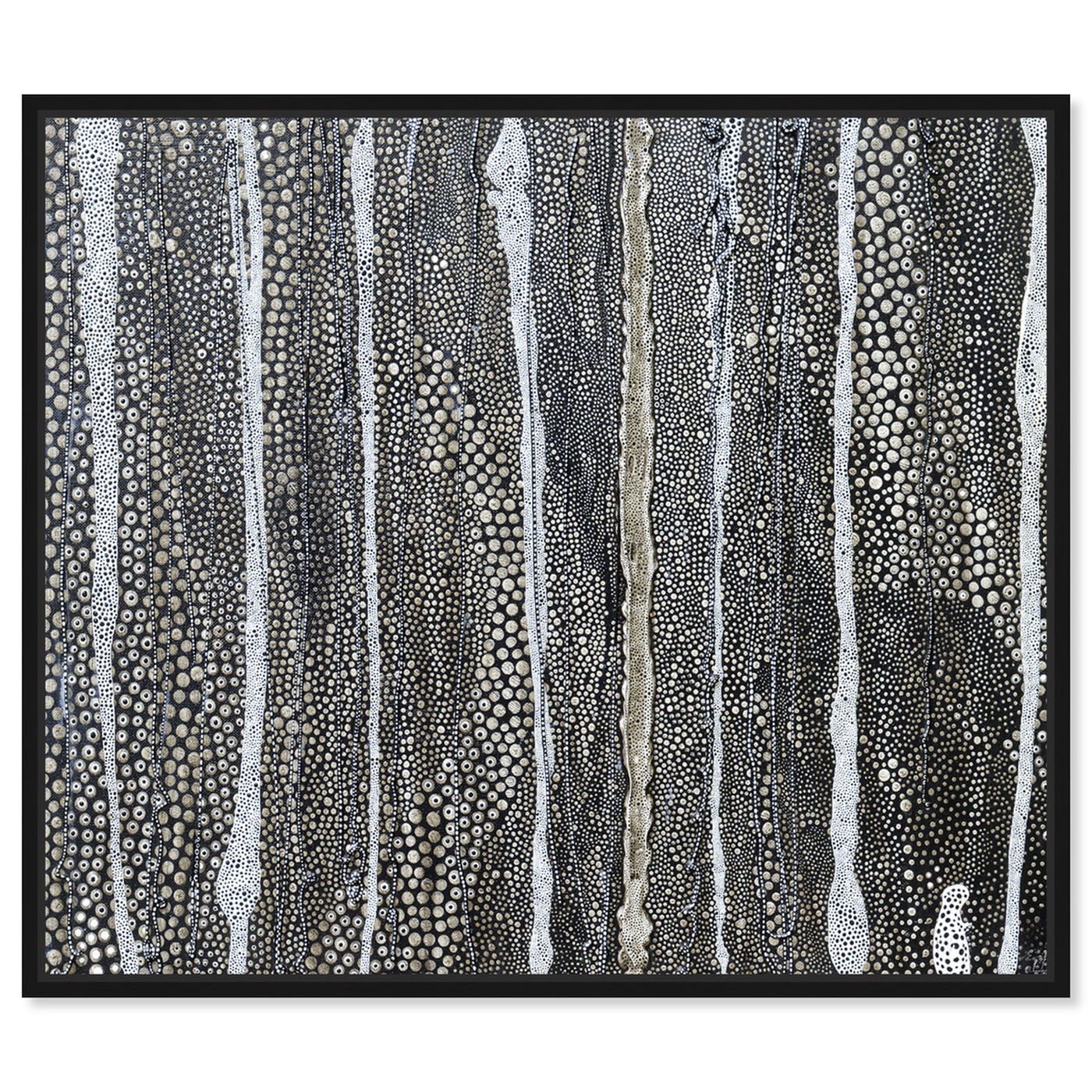 Front view of Enriqueta Ahrensburg - Black and white featuring abstract and textures art.