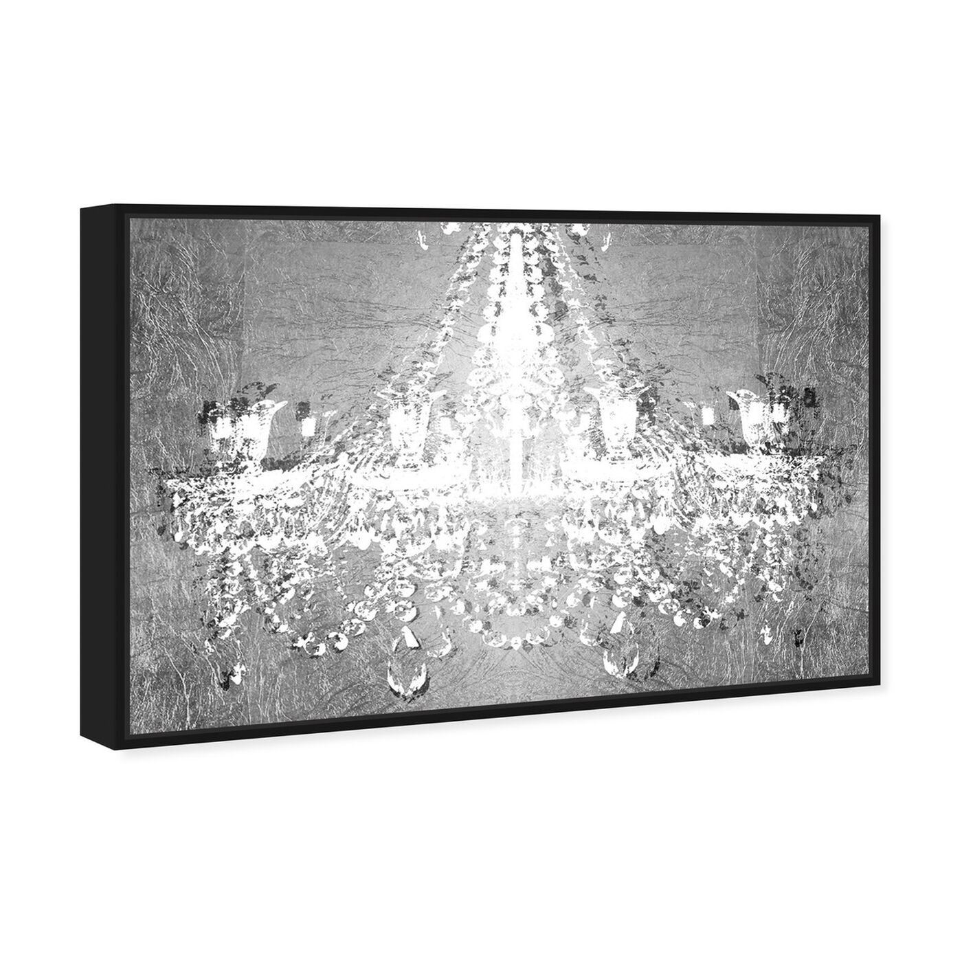Angled view of Dramatic Entrance Chrome featuring fashion and glam and chandeliers art.