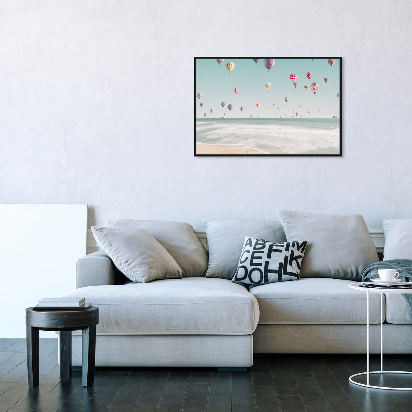 Hanging view of Beachside Balloons featuring nautical and coastal and coastal art.