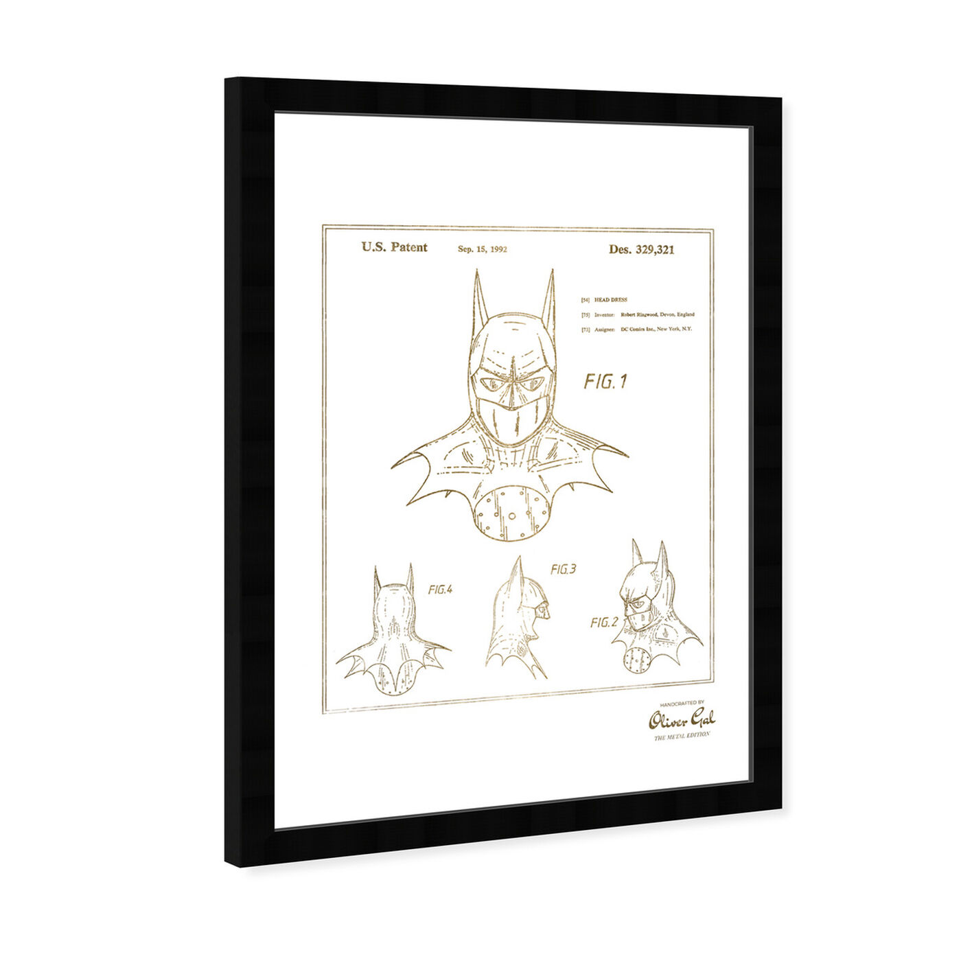 Angled view of Batman 1992 Gold featuring movies and tv and movie characters art.