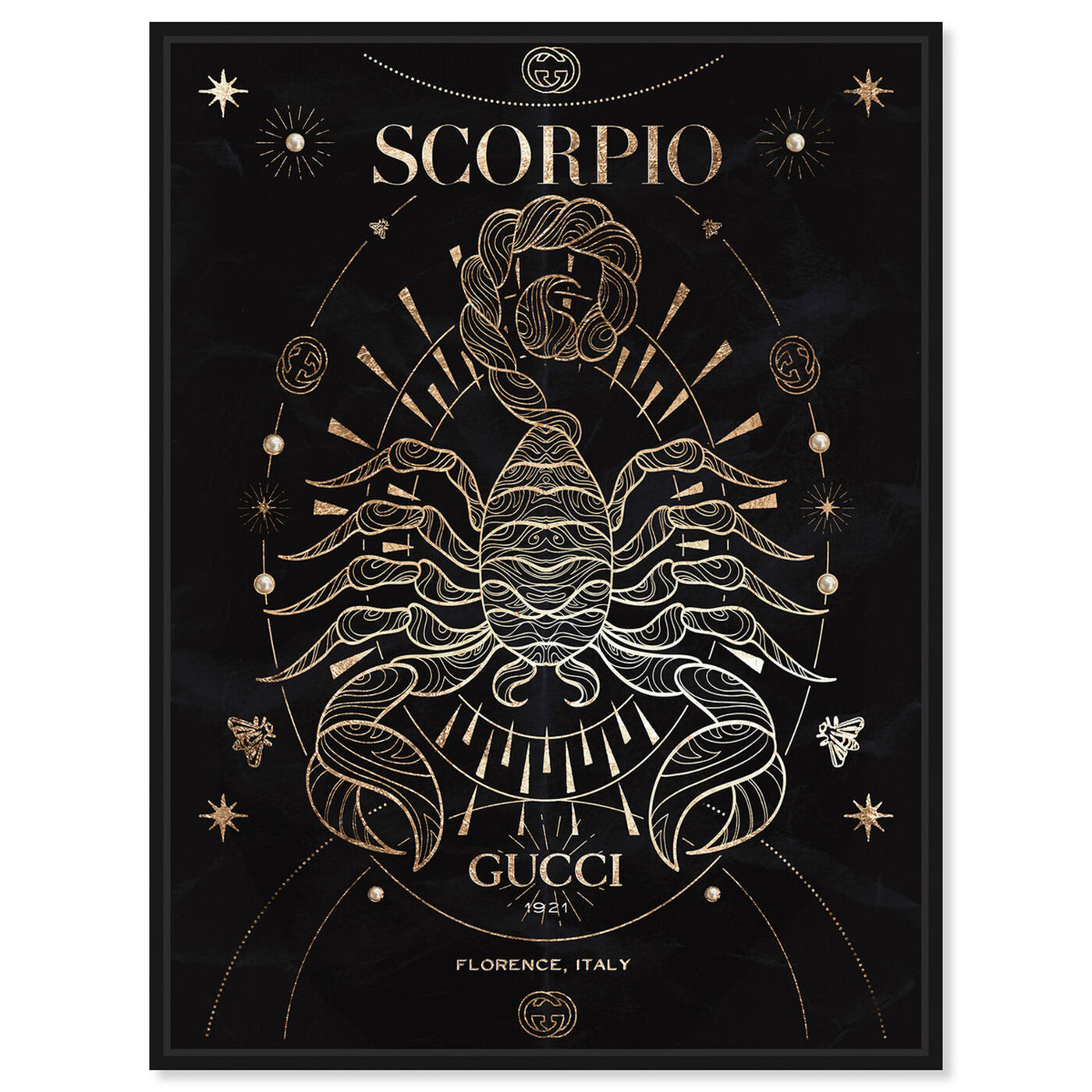Front view of Mémoire d'un Scorpio featuring fashion and glam and lifestyle art.
