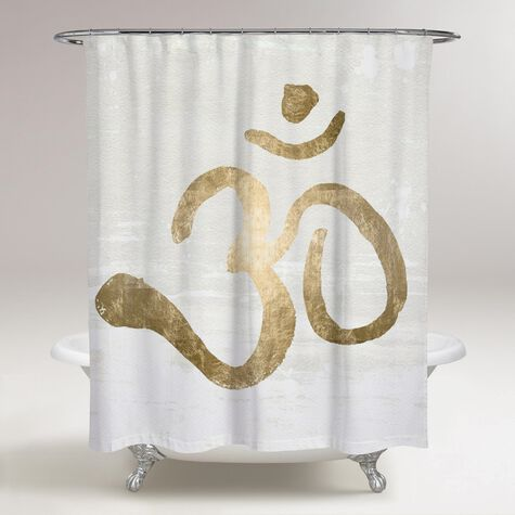 Ohm Gold Blanc Shower Curtain