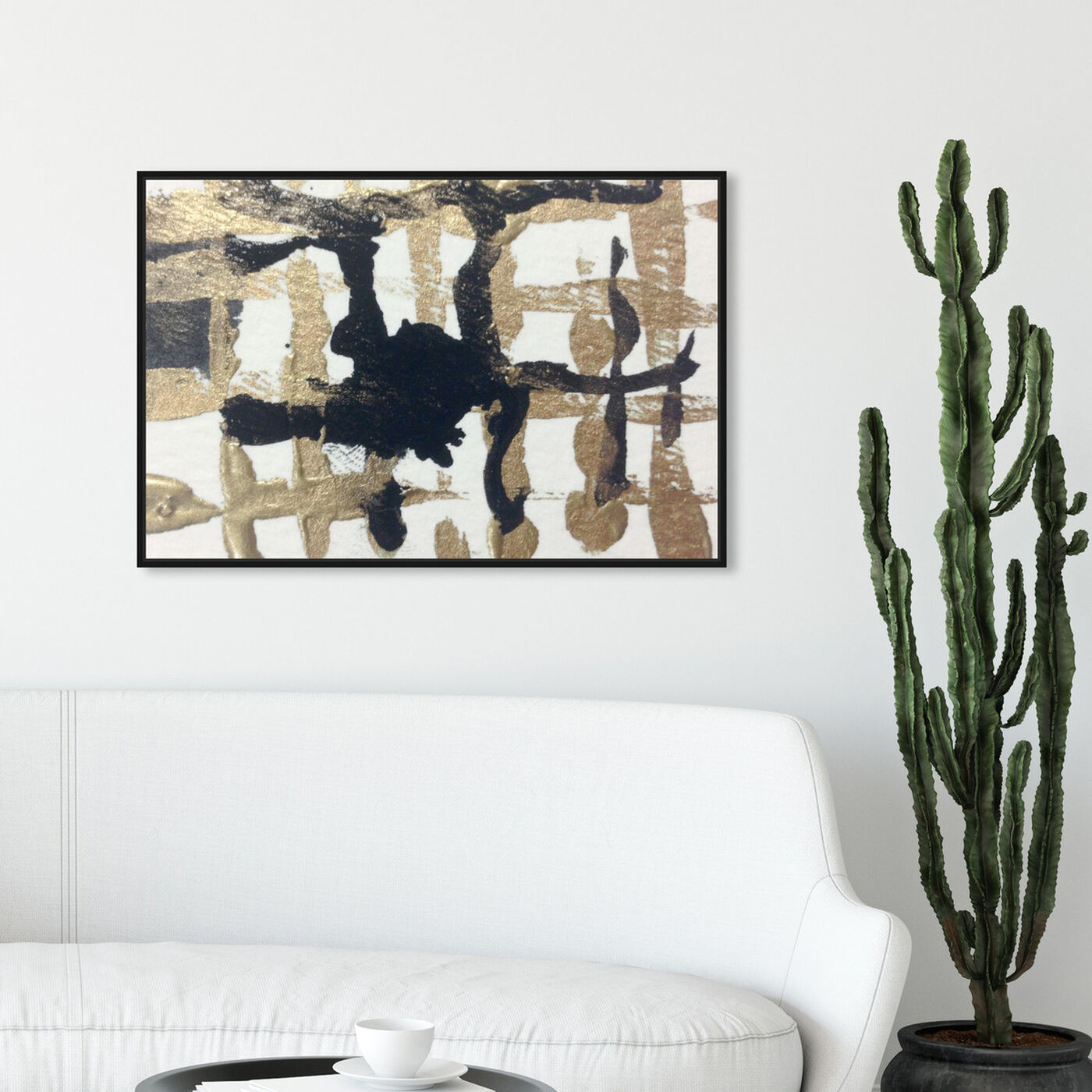 Hanging view of Tristan e Isolde featuring abstract and paint art.