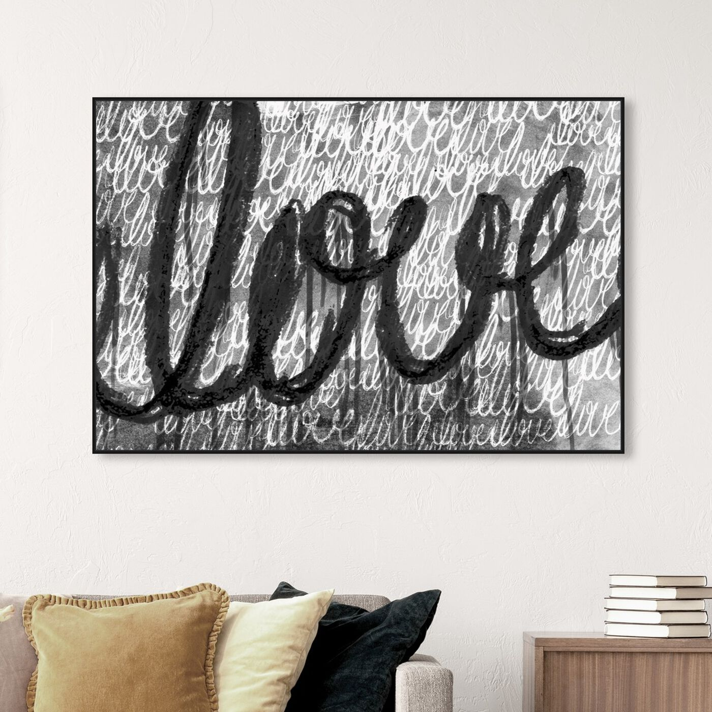 Hanging view of Round and Round Night featuring typography and quotes and love quotes and sayings art.