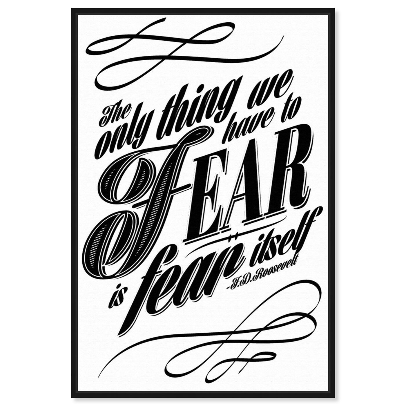 Front view of The Fear featuring typography and quotes and motivational quotes and sayings art.
