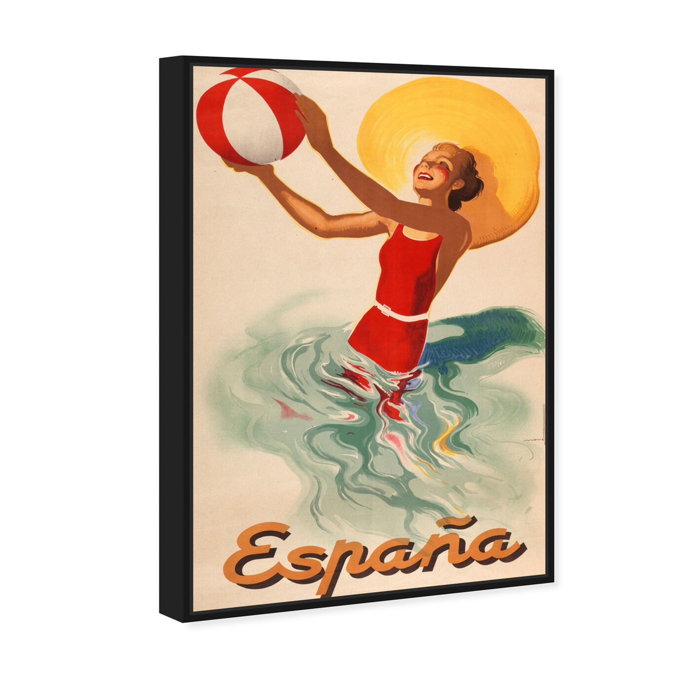 Angled view of Espana Playa 1920s featuring advertising and posters art.