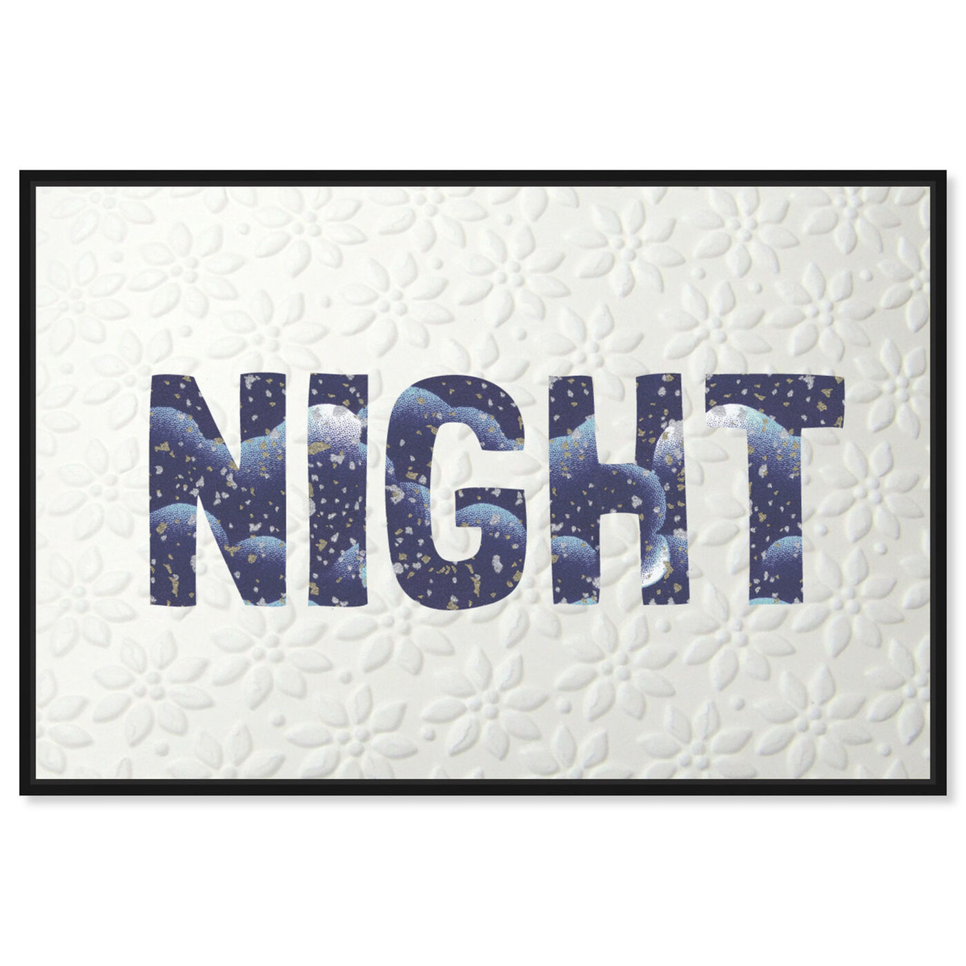 Front view of Night Blue featuring typography and quotes and quotes and sayings art.