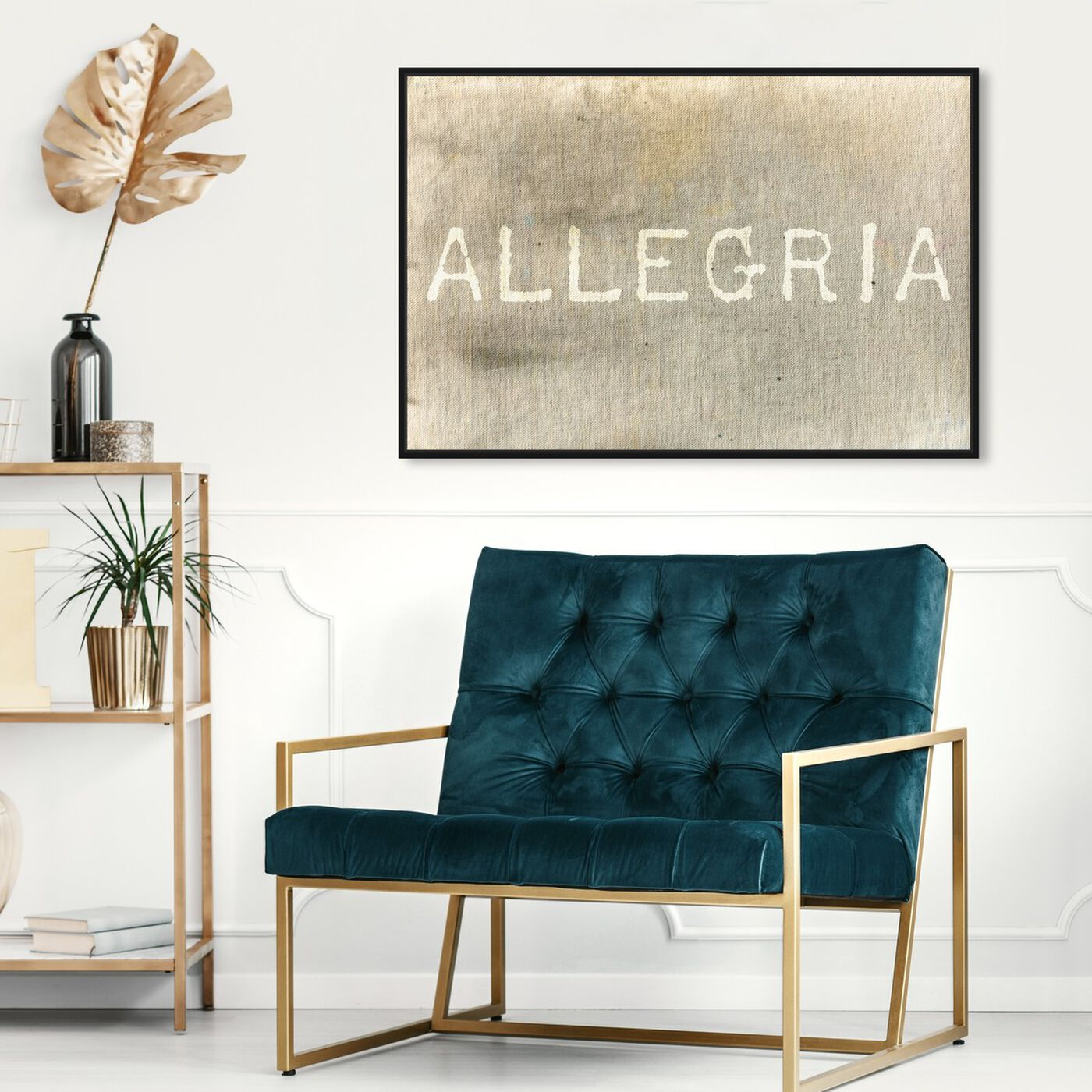 Hanging view of Allegria featuring typography and quotes and inspirational quotes and sayings art.
