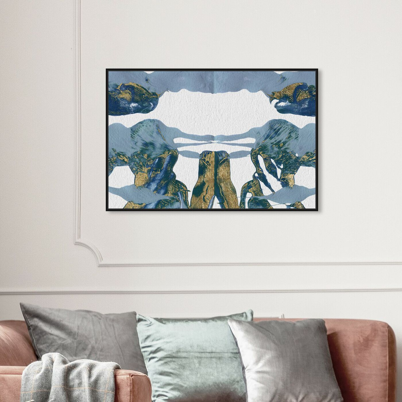 Hanging view of Midsummer's Night - Signature Collection featuring abstract and paint art.