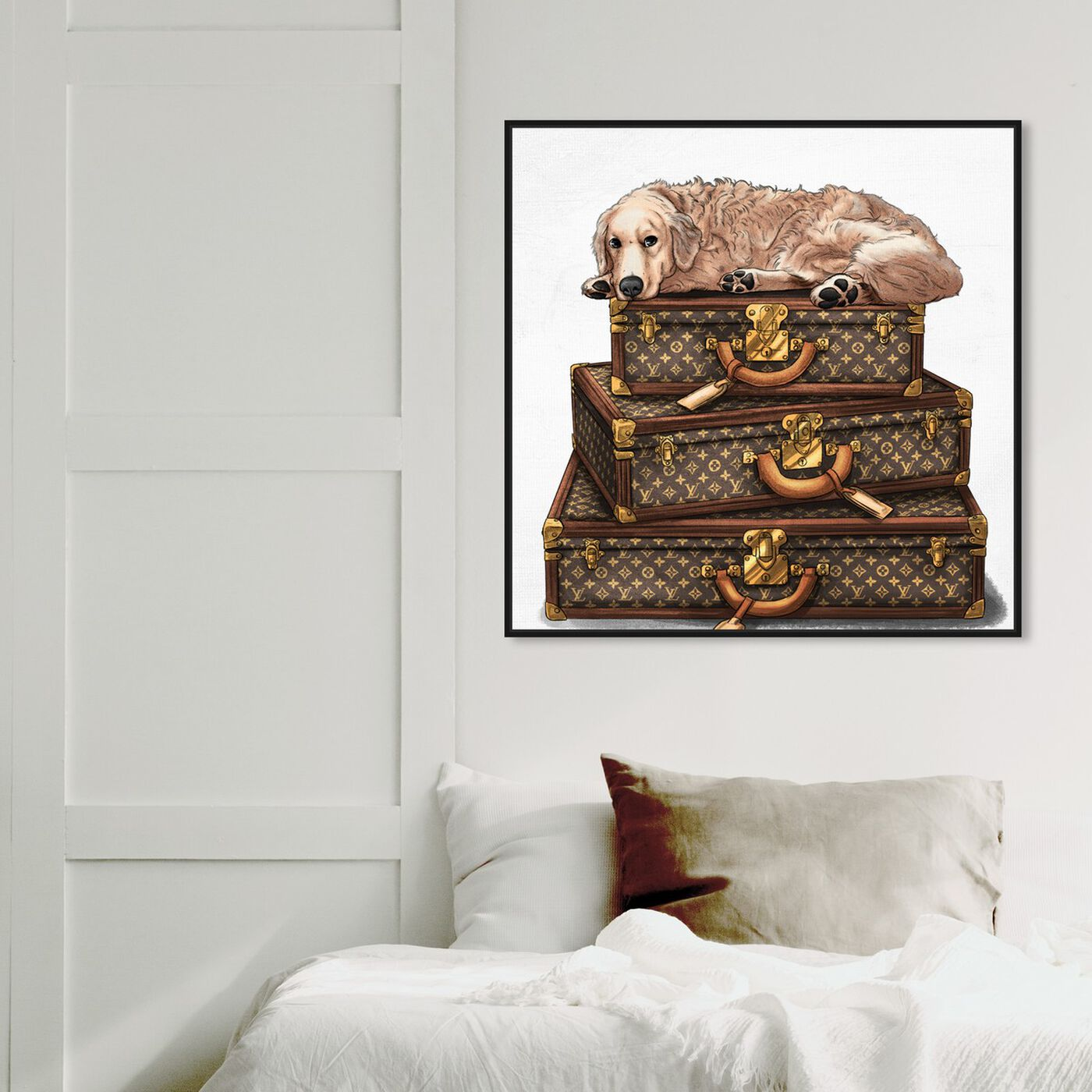Hanging view of Sleeping Companion Cream featuring fashion and glam and travel essentials art.