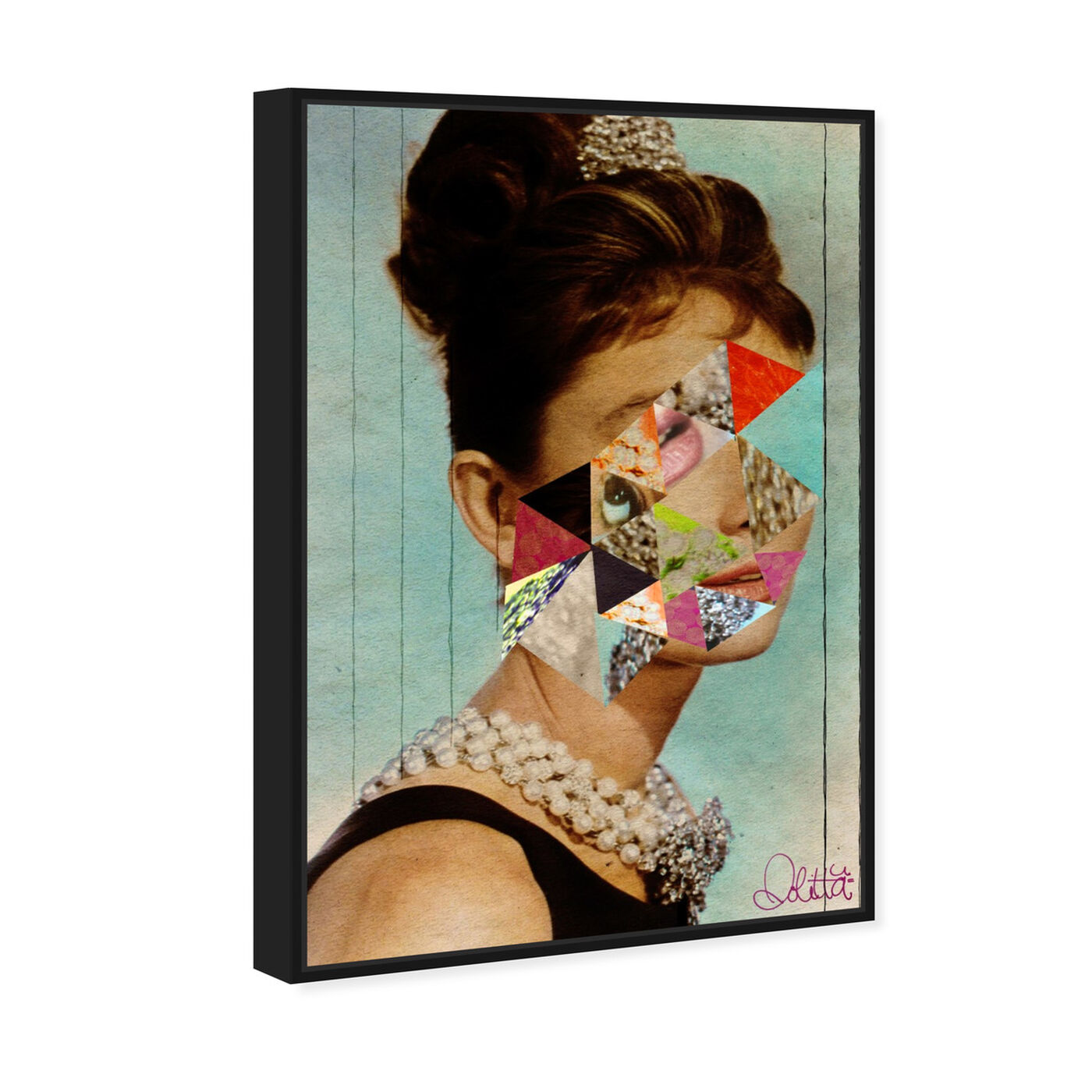 Angled view of It's All About The Diamonds  featuring fashion and glam and portraits art.