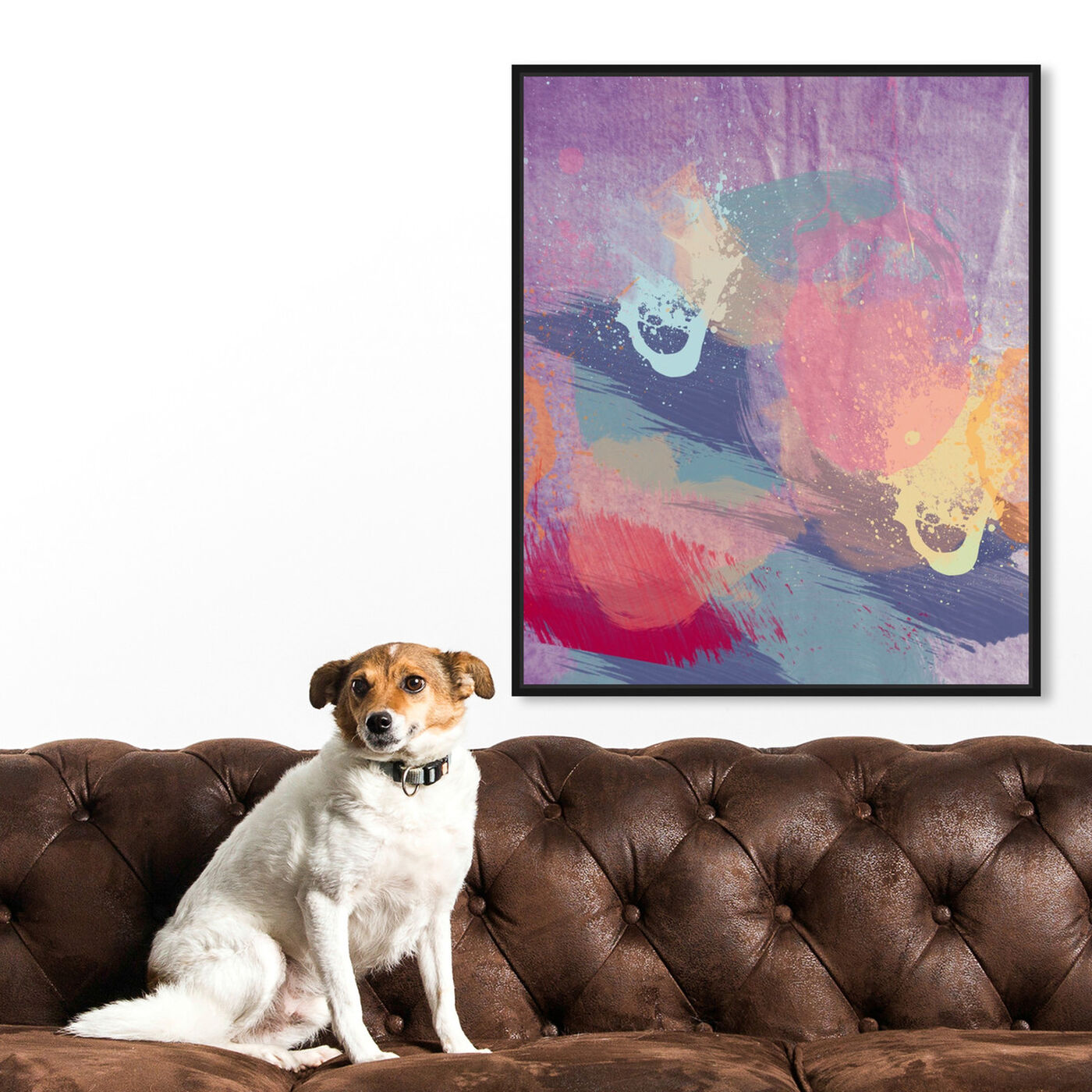 Hanging view of Lavender Mist featuring abstract and paint art.