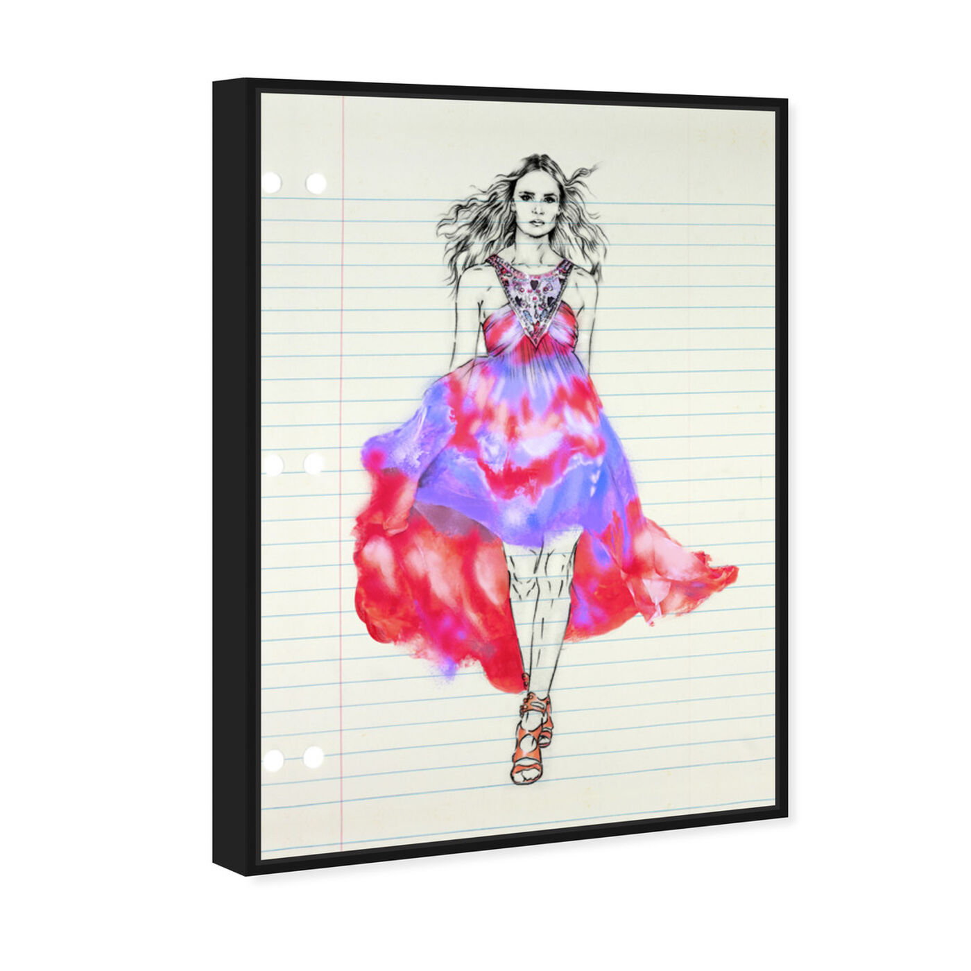 Angled view of Fashion Illustration 1 featuring fashion and glam and dress art.