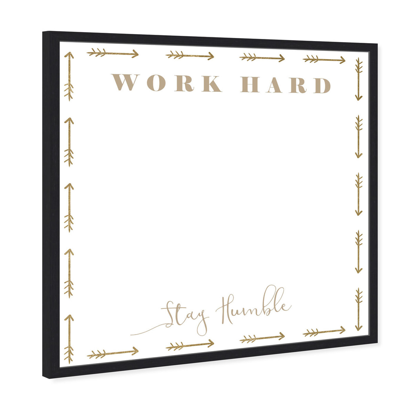 Angled view of Work Hard Stay Humble featuring education and office and whiteboards art.