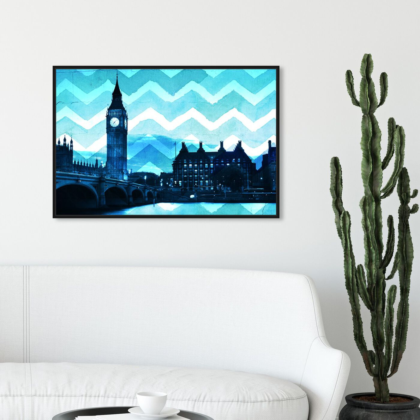 Hanging view of London Chevron featuring cities and skylines and european cities art.