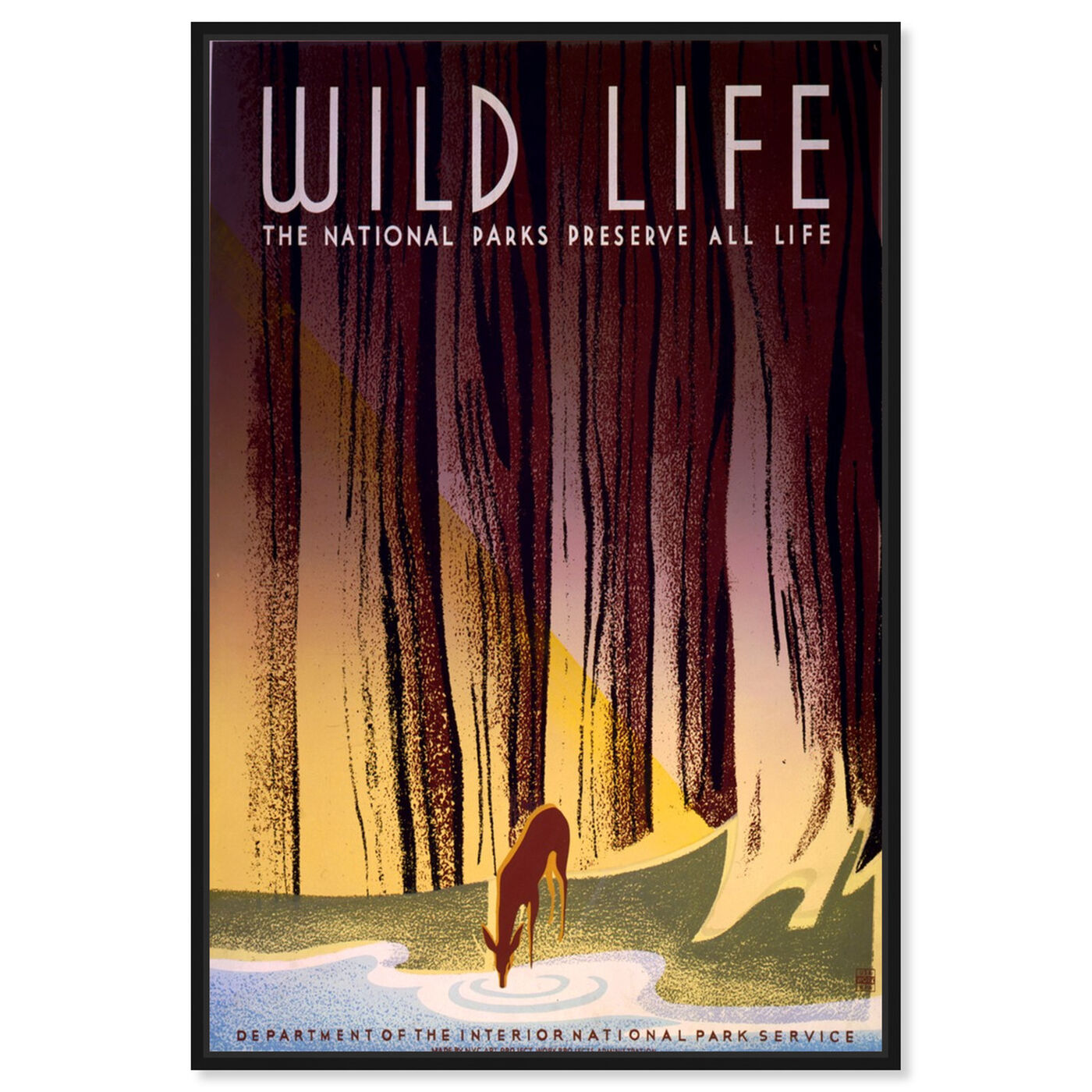 Front view of Preserve America's Wildlife featuring advertising and posters art.