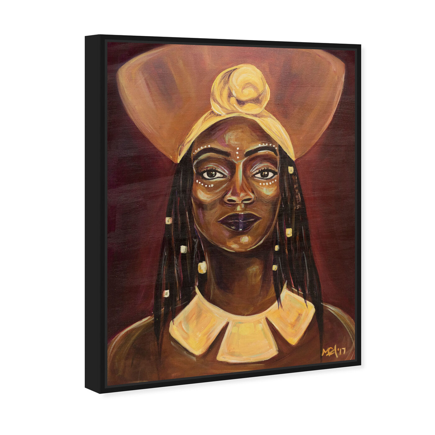Angled view of Marissa Anderson - Queen featuring people and portraits and portraits art.