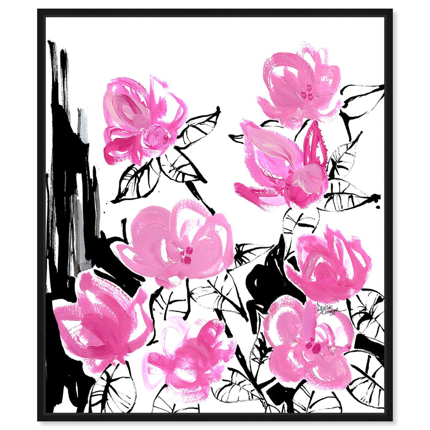 Front view of Denise Elnajjar - The Blooms featuring floral and botanical and florals art.